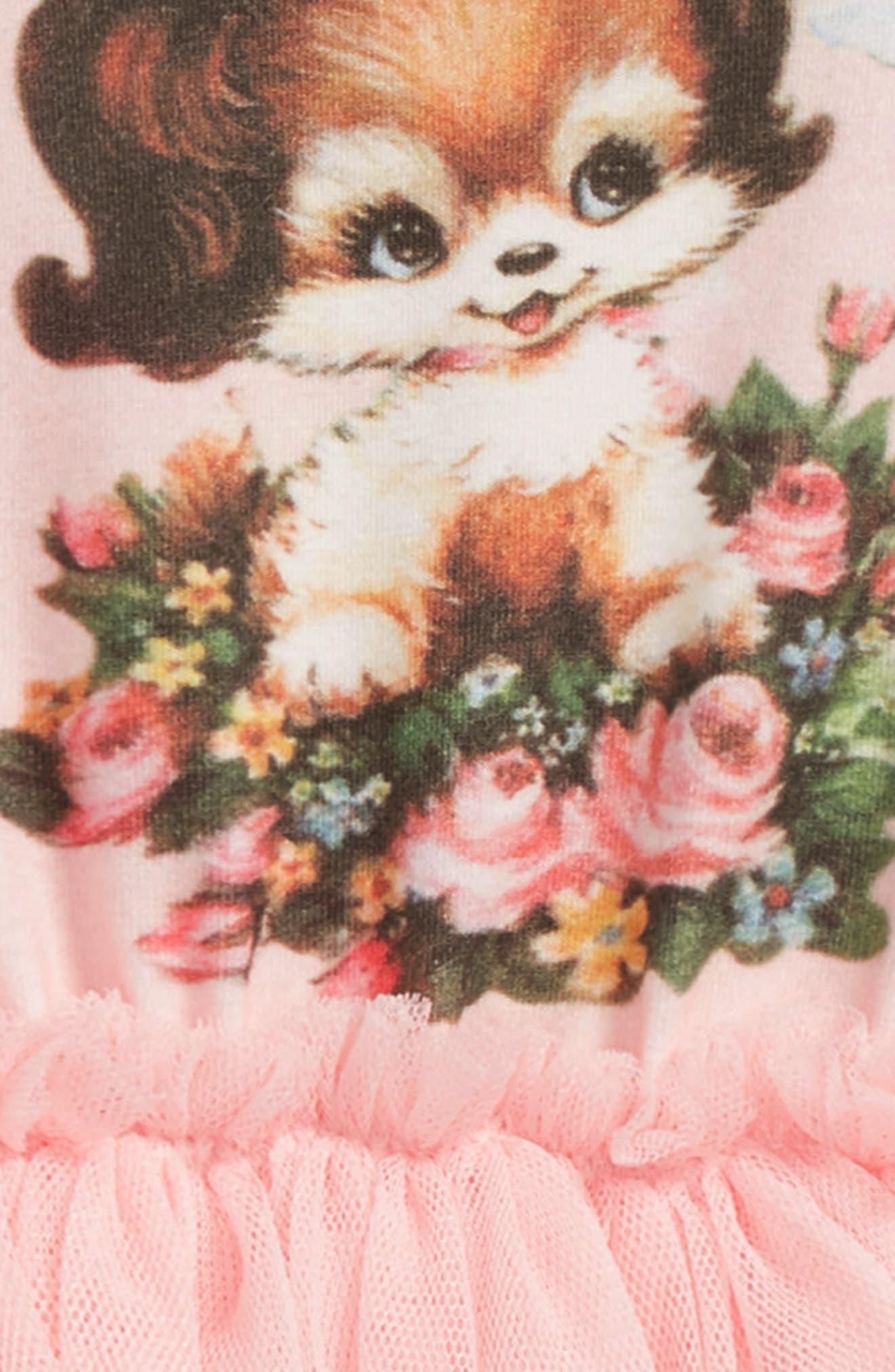 Puppy Love Circus Bodysuit Dress,                             Alternate thumbnail 2, color,                             Pink