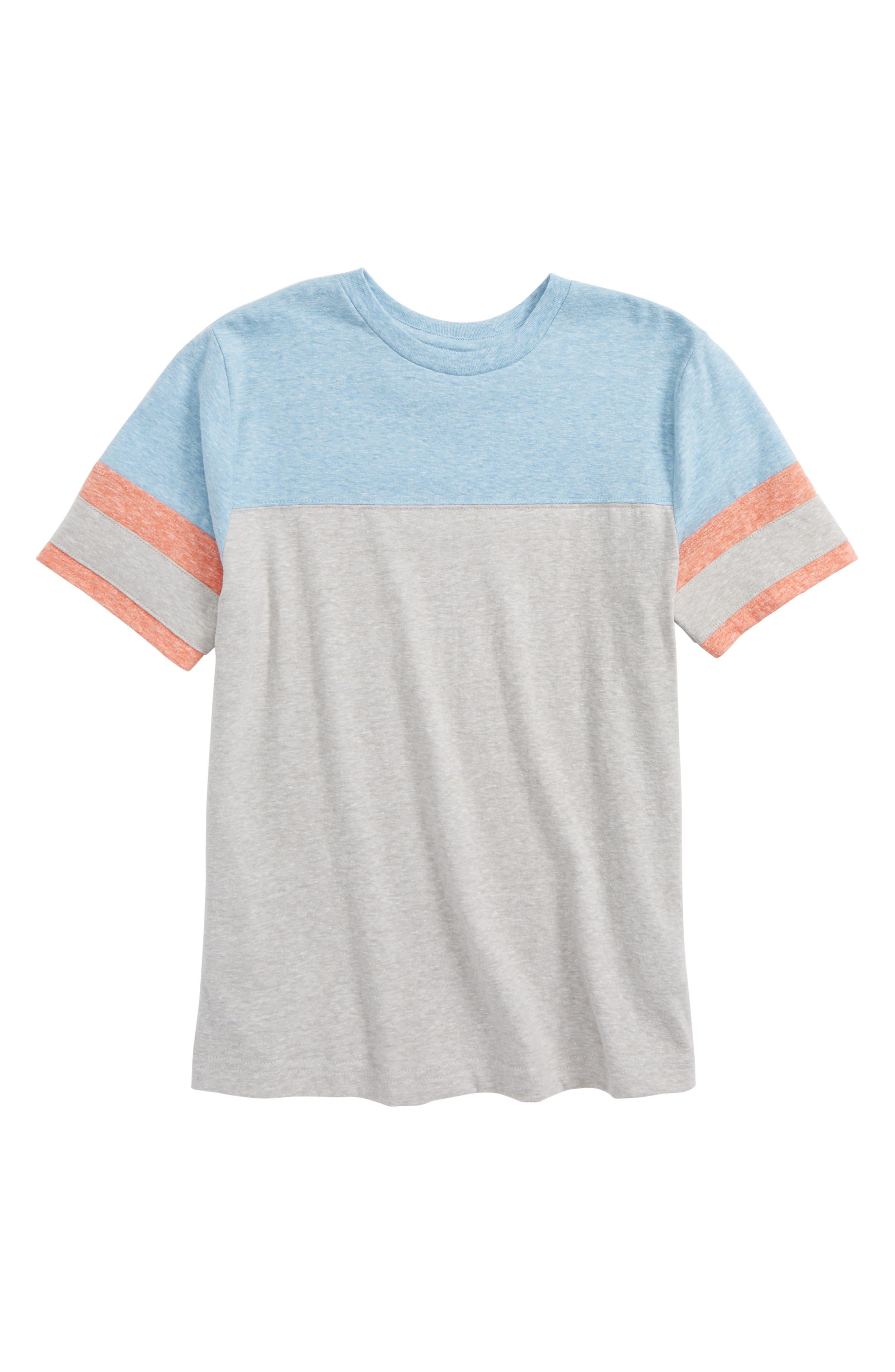 Colorblock T-Shirt,                         Main,                         color, Grey Ash Heather- Blue