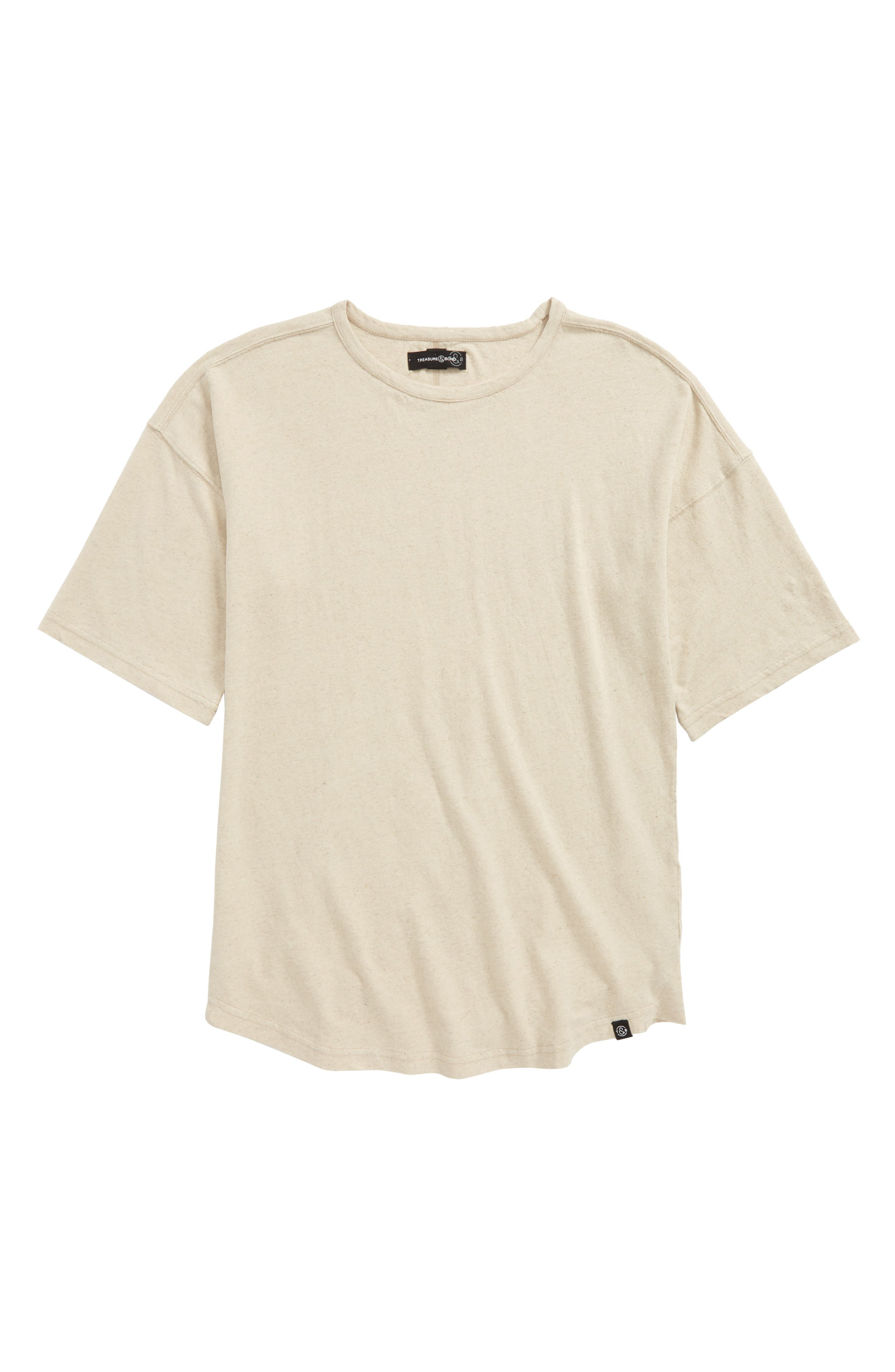 Dropped Shoulder Shirt,                         Main,                         color, Beige Moth