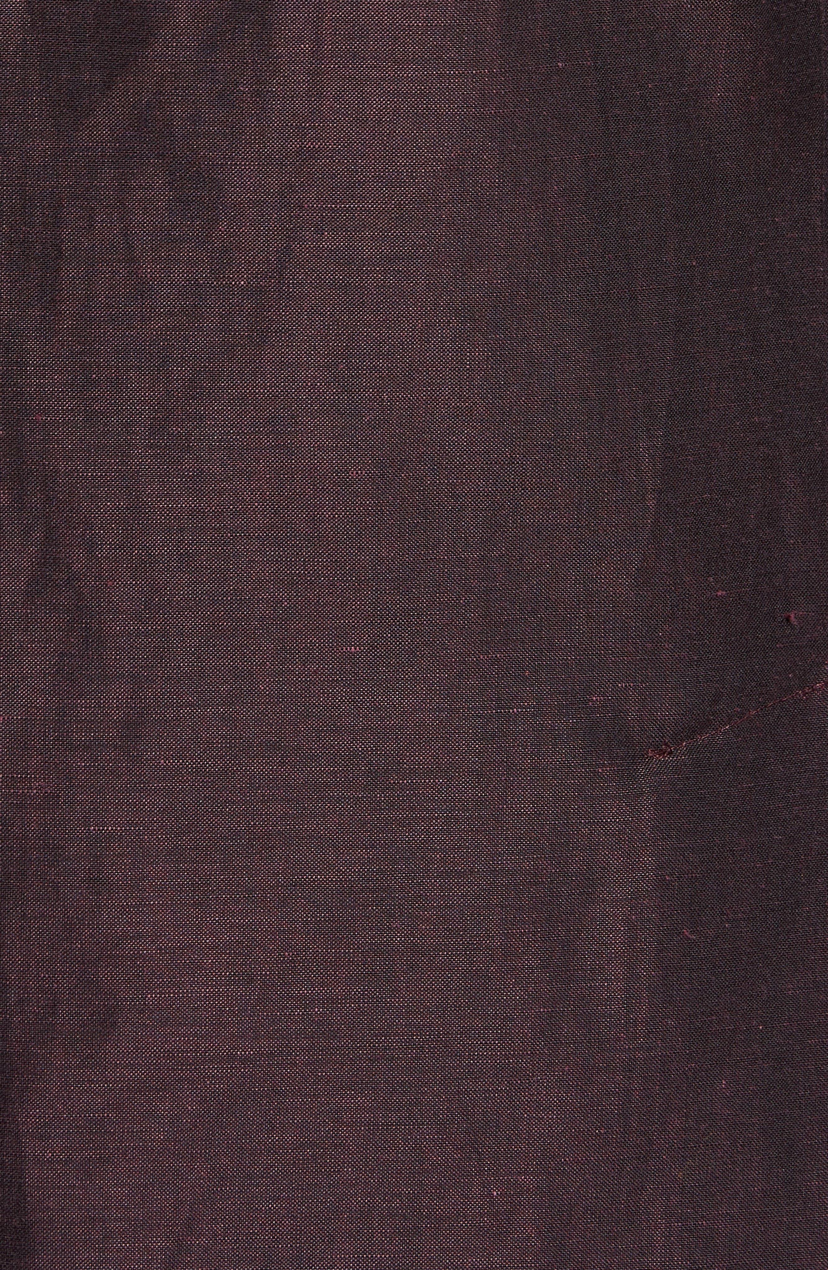 Shelby Trim Fit Wool & Linen Suit Jacket,                             Alternate thumbnail 5, color,                             Plum