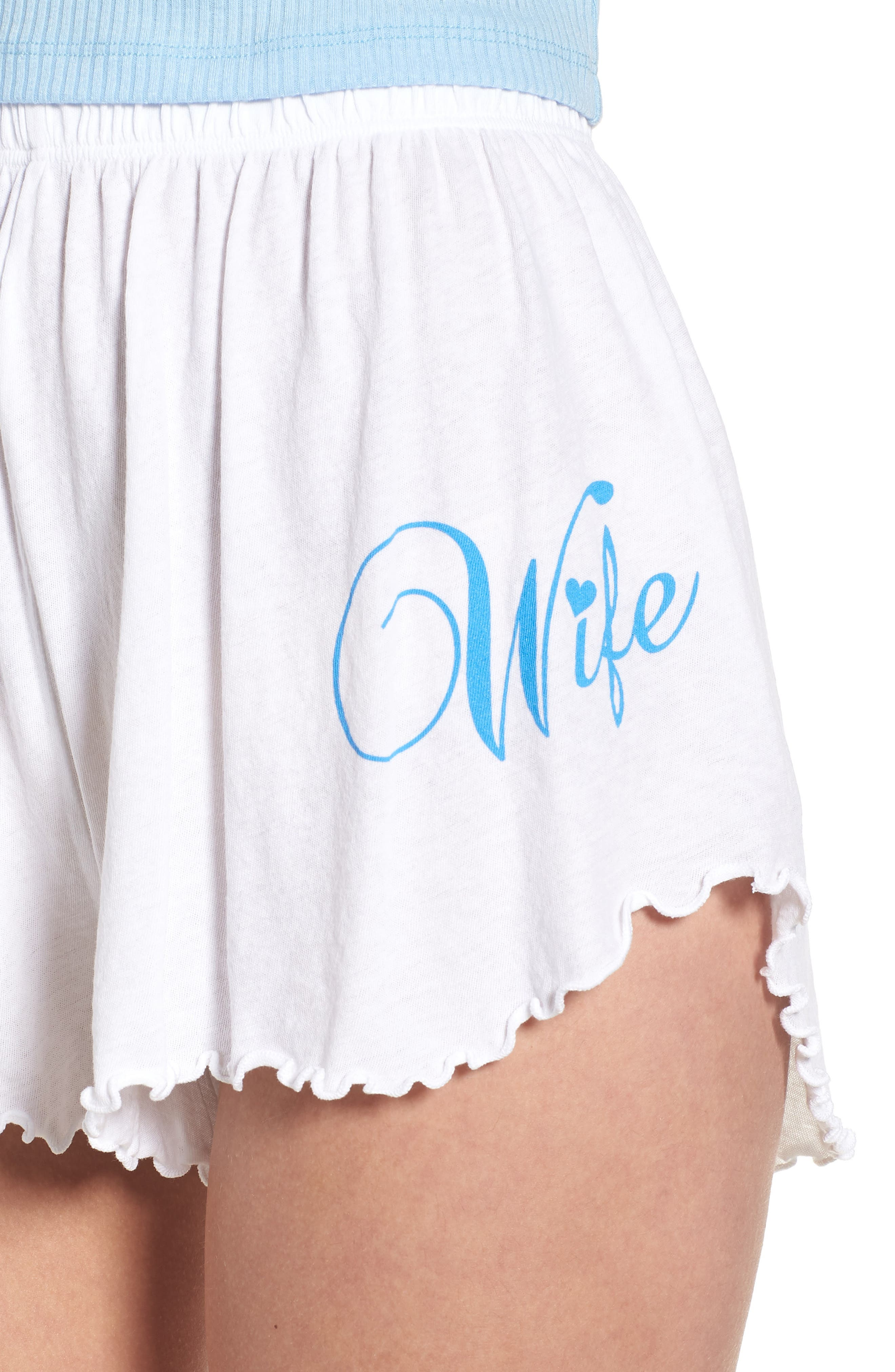 Wife Shorts,                             Alternate thumbnail 4, color,                             Clean White