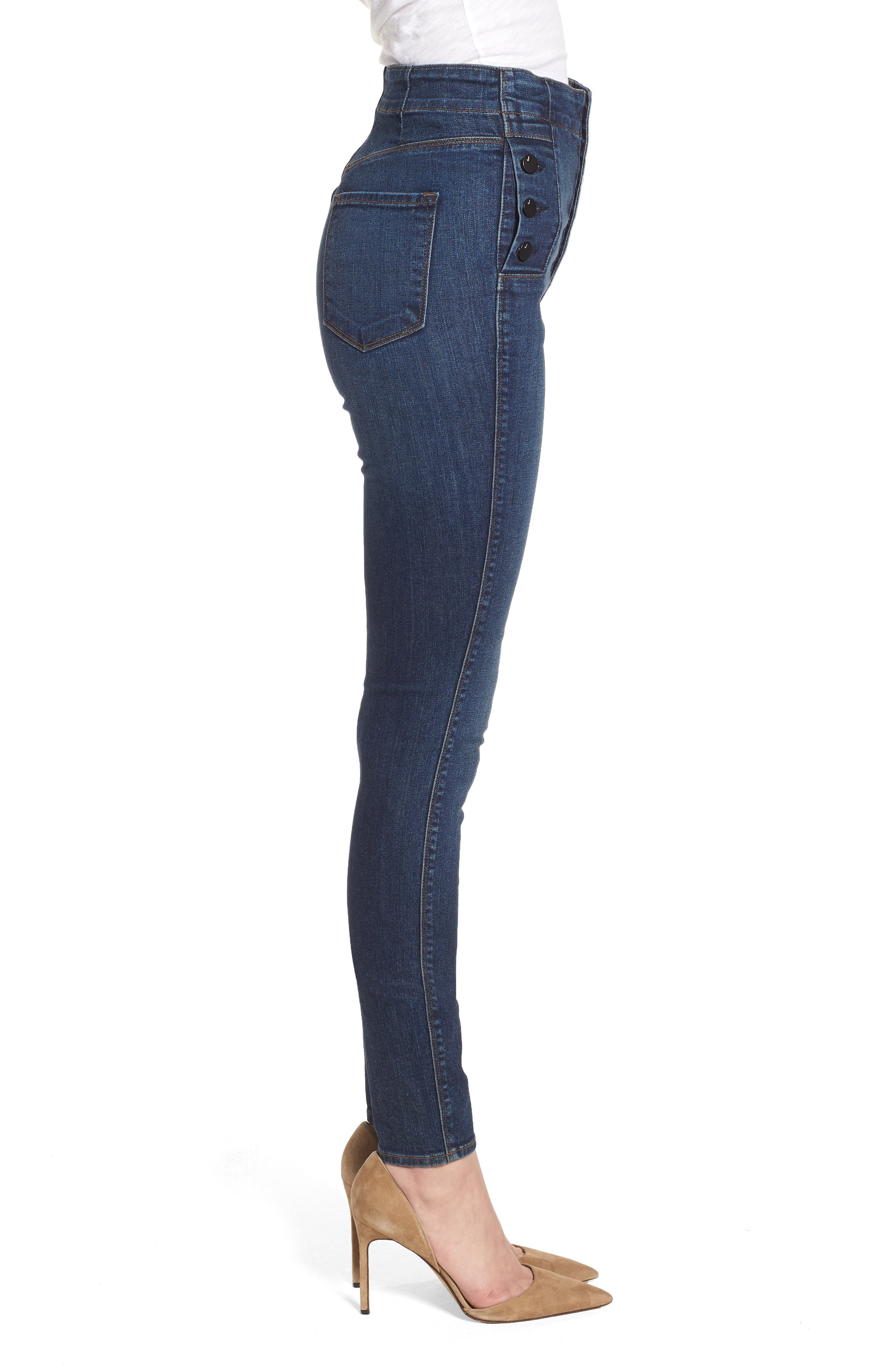 Natasha Sky High High Waist Skinny Jeans,                             Alternate thumbnail 3, color,                             Revival