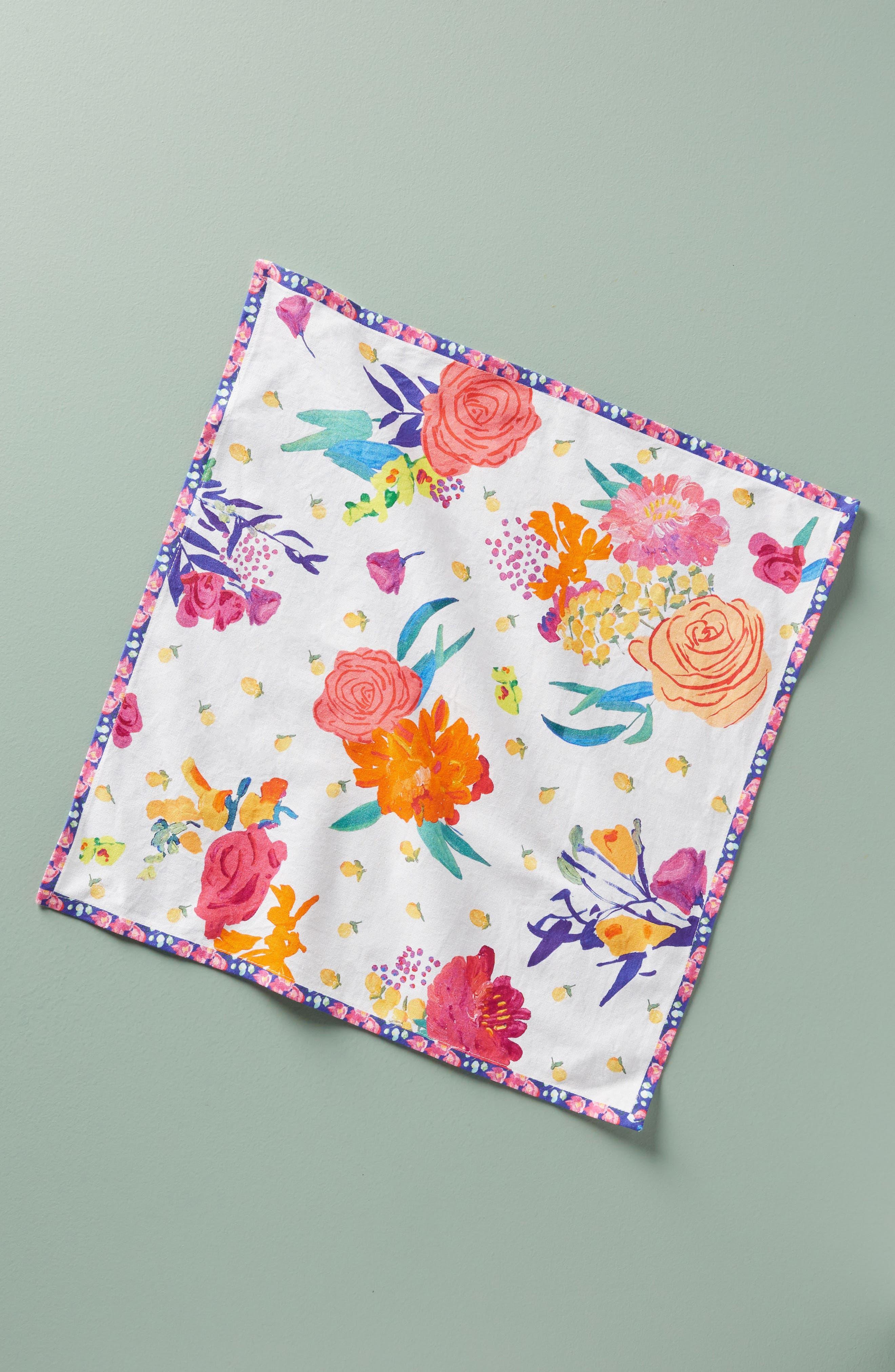 Paint + Petals Napkin,                         Main,                         color, Blue Combo