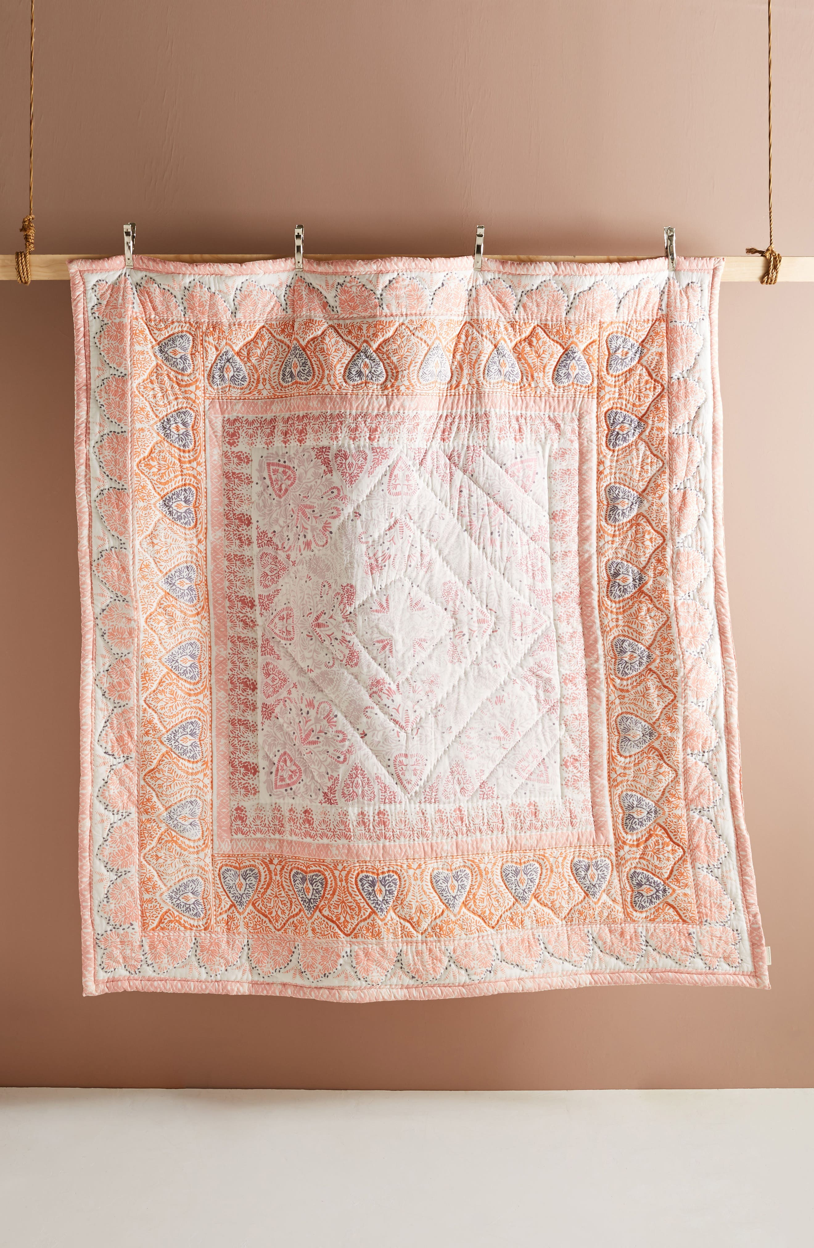 Josee Quilt,                             Alternate thumbnail 3, color,                             Coral