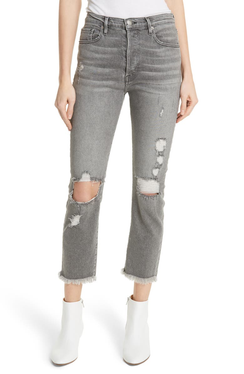 Le Original High Waist Raw Edge Jeans