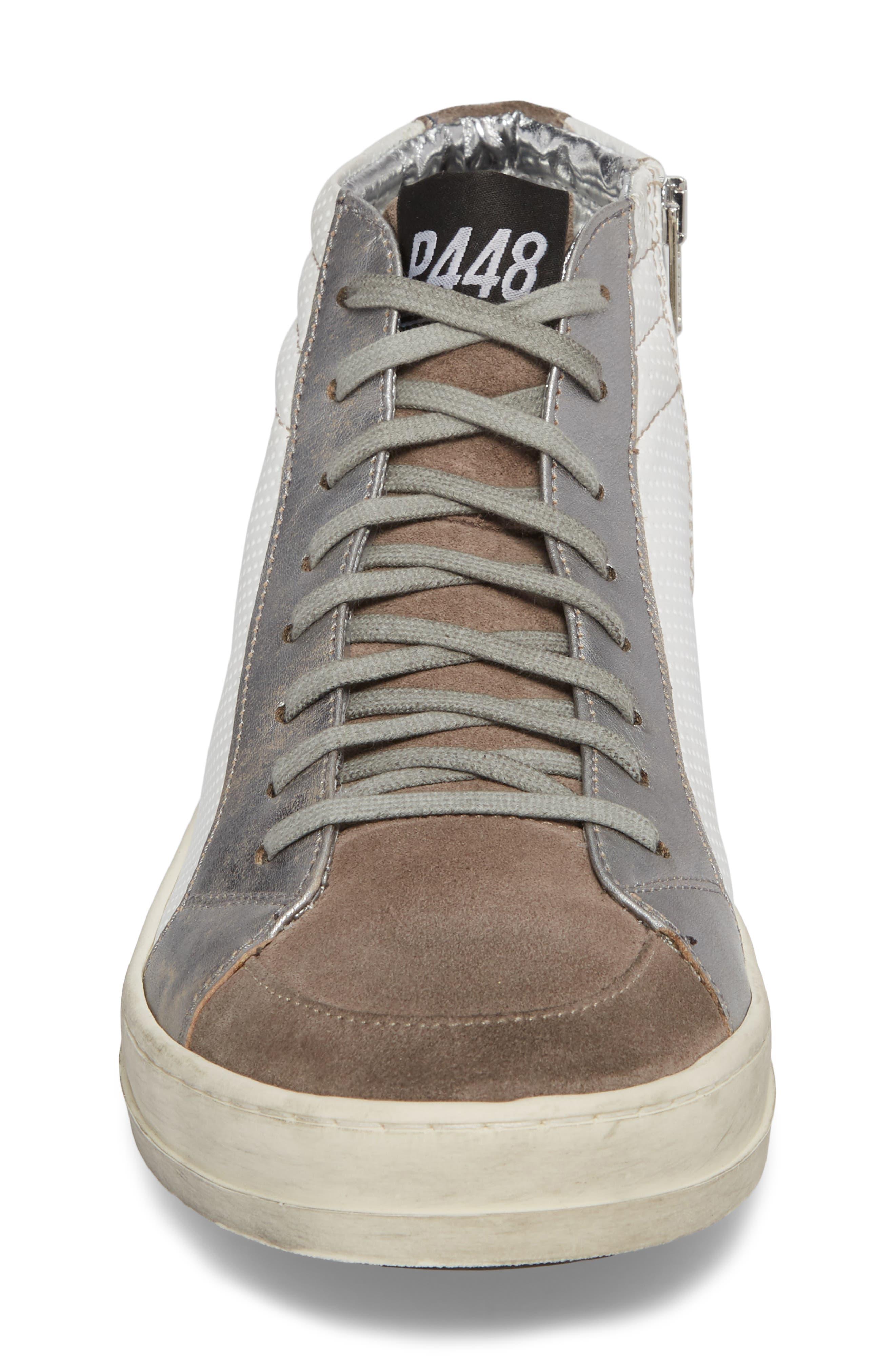 Skate High Top Sneaker,                             Alternate thumbnail 4, color,                             White