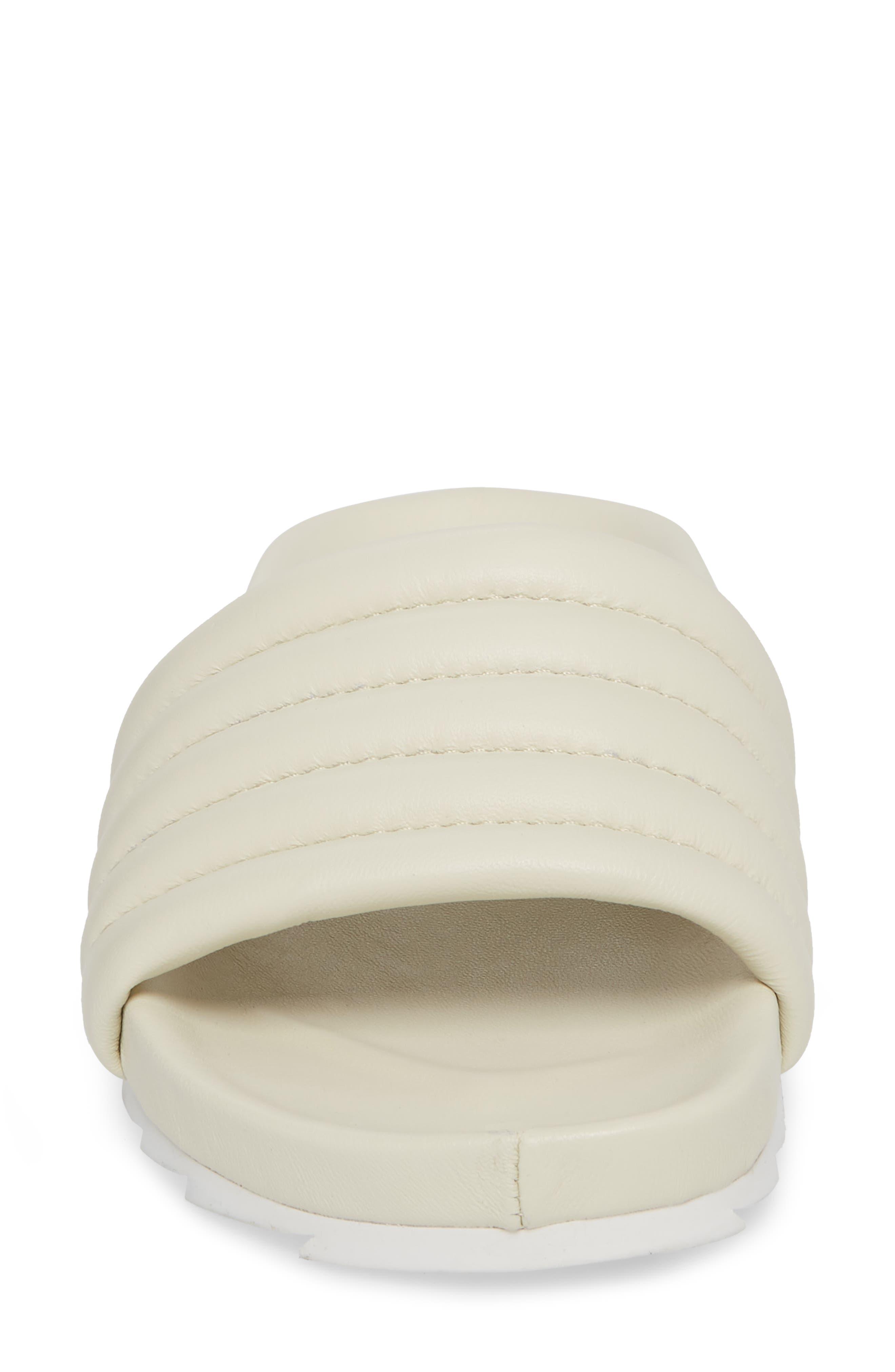 Eppie Slide Sandal,                             Alternate thumbnail 4, color,                             Off White Leather