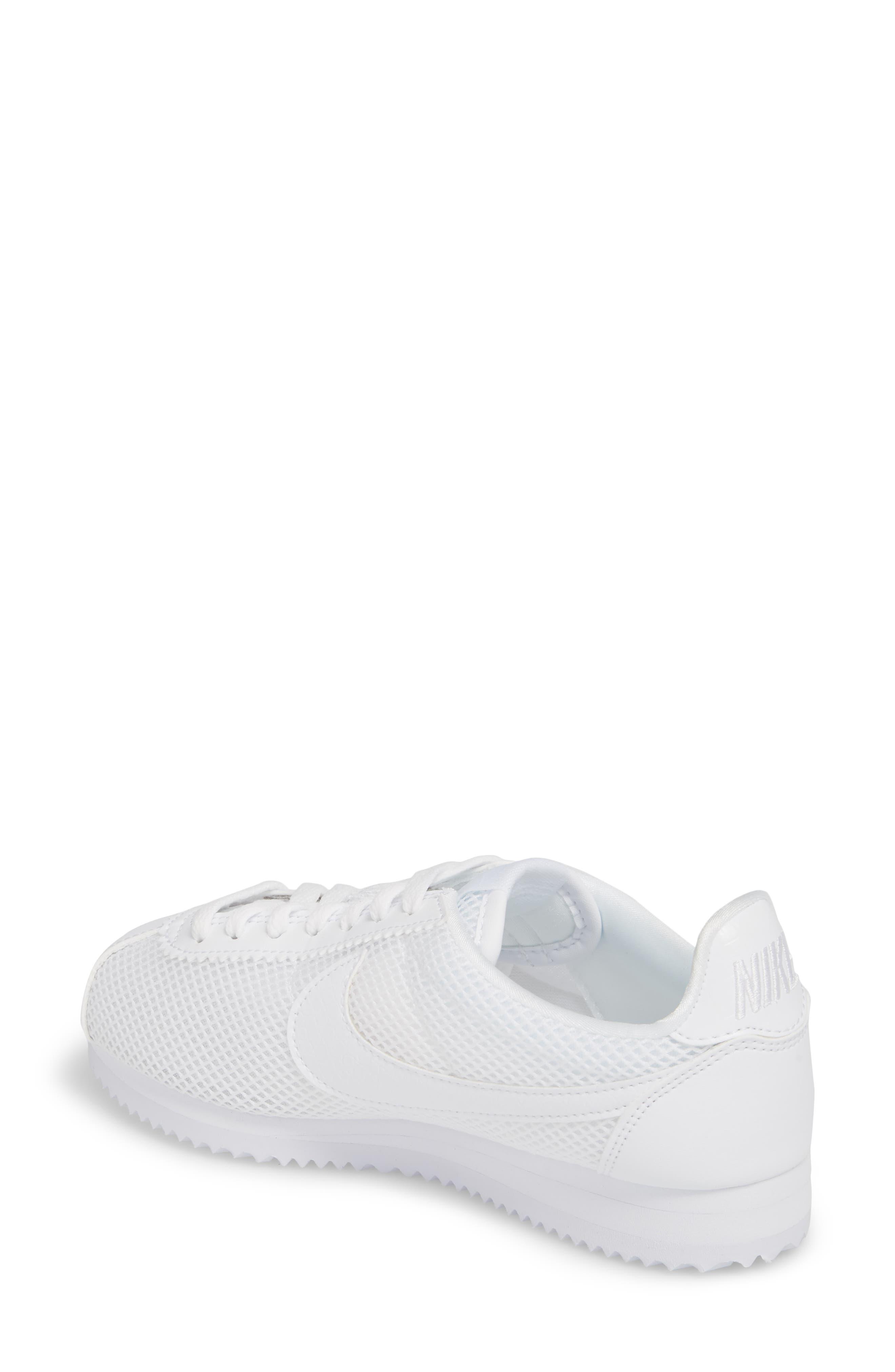 Classic Cortez Premium XLV Sneaker,                             Alternate thumbnail 2, color,                             White/ White