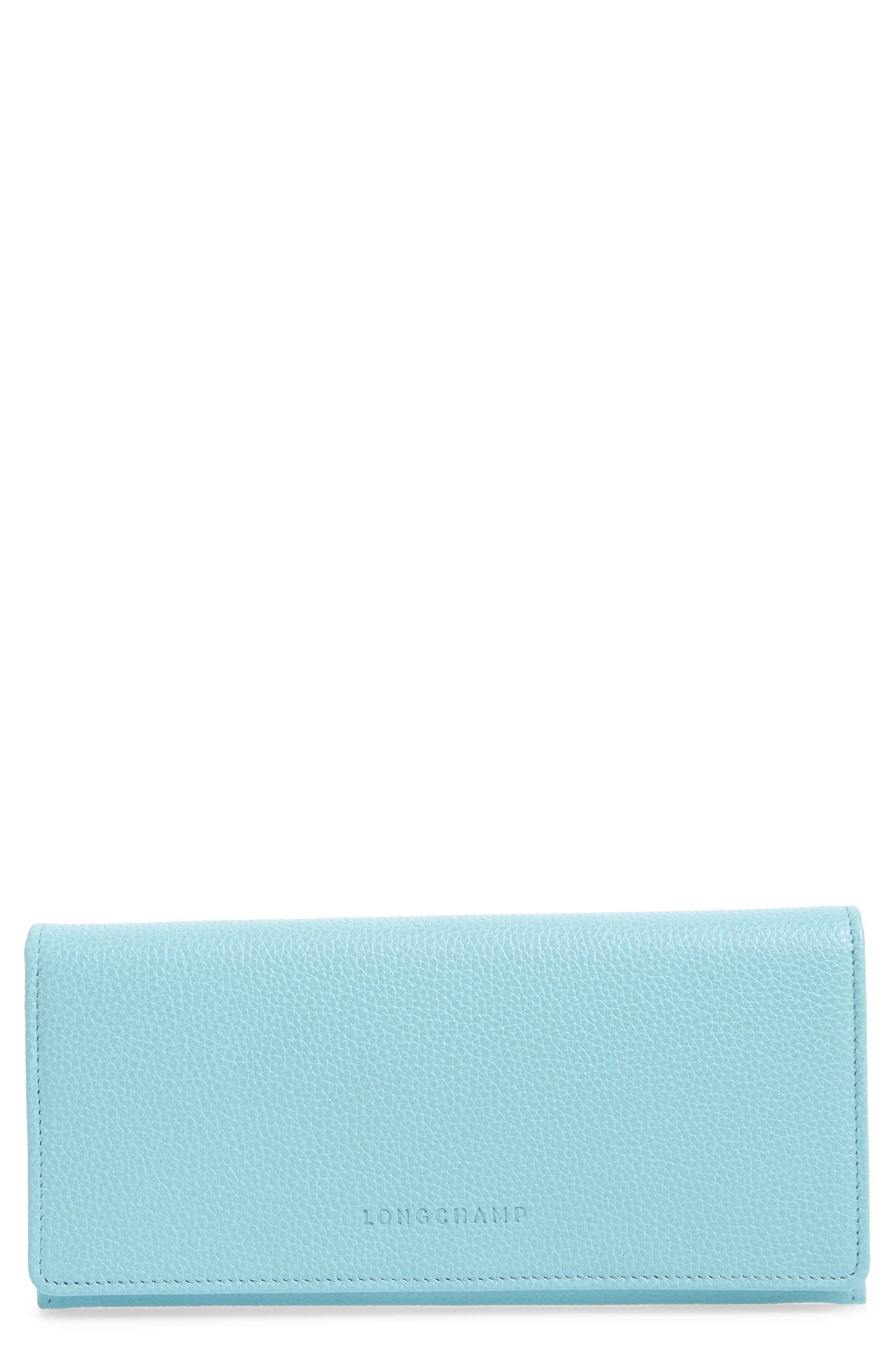 'Veau' Continental Wallet,                         Main,                         color, Aqua