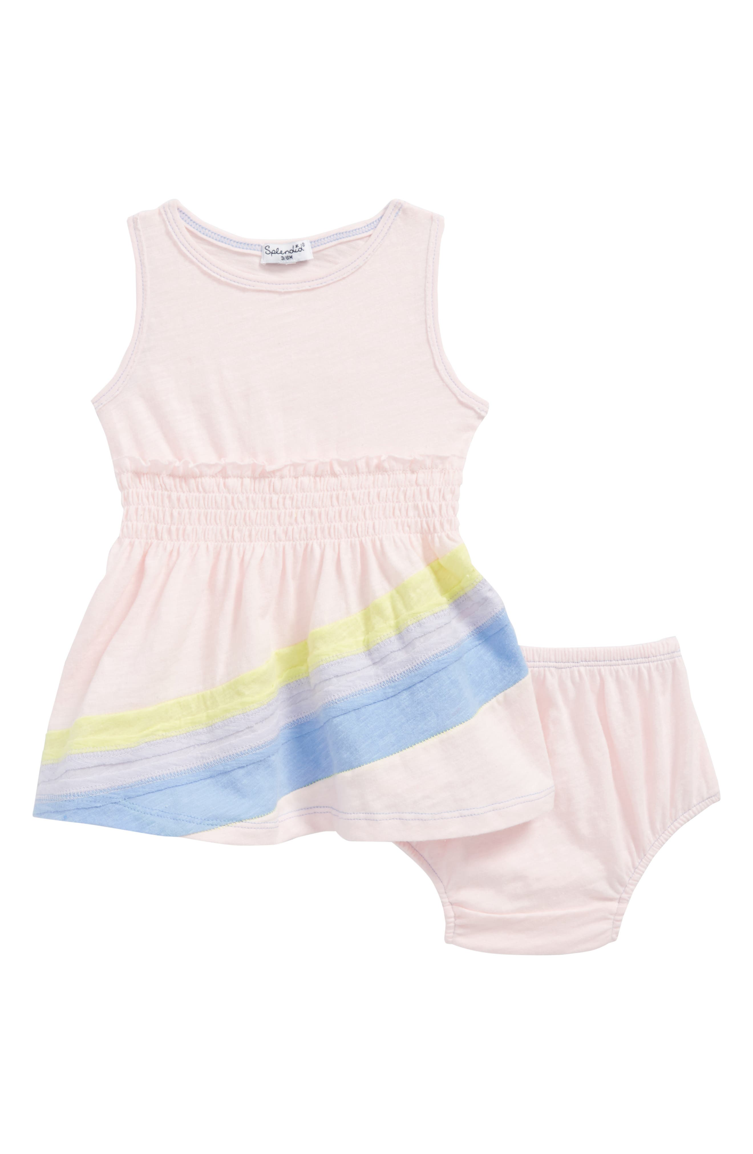 Rainbow Dress,                             Main thumbnail 1, color,                             Ballerina