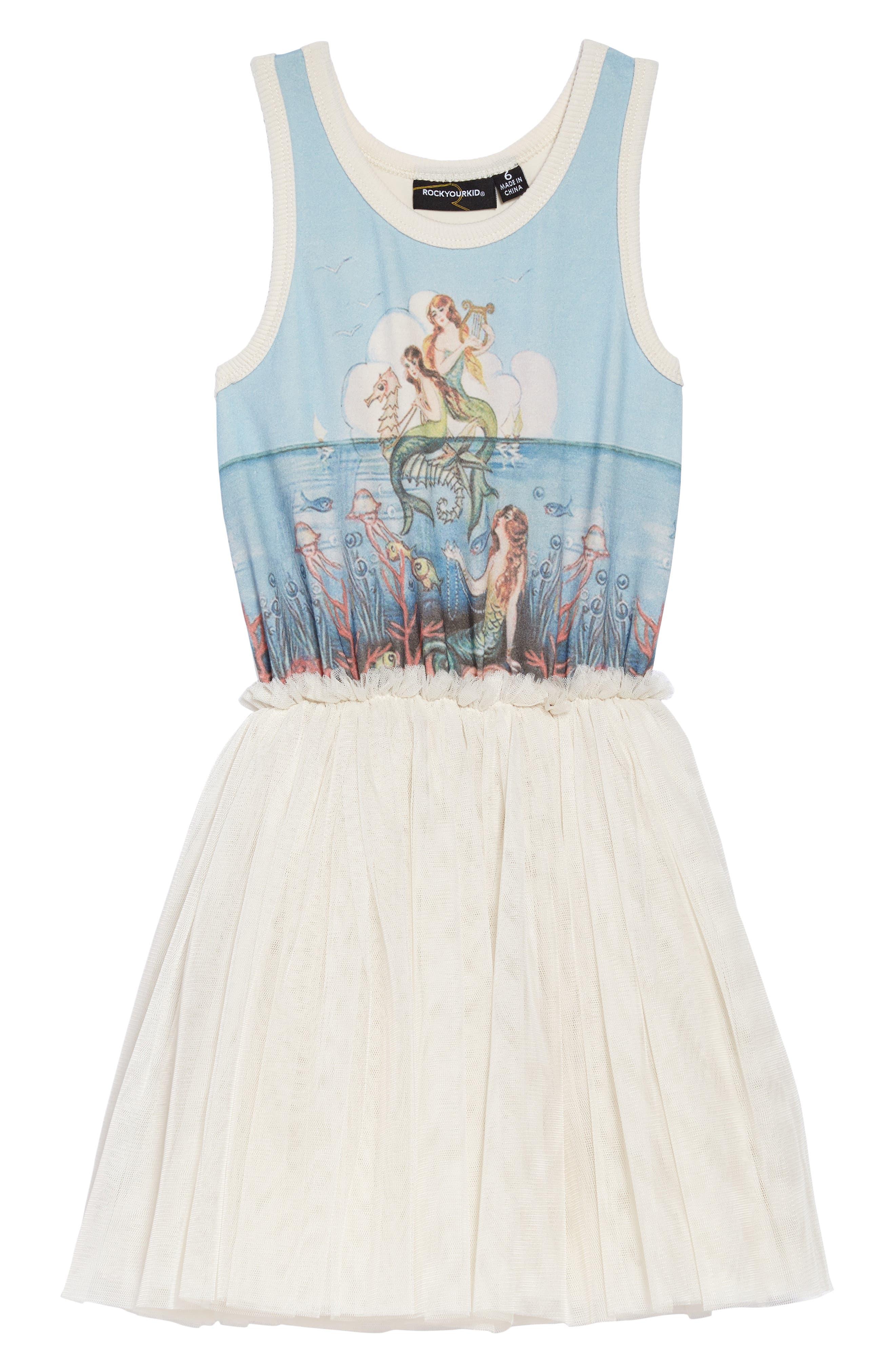 Rock Your Kid Little Mermaids Circus Tank Dress (Toddler Girls & Little Girls)