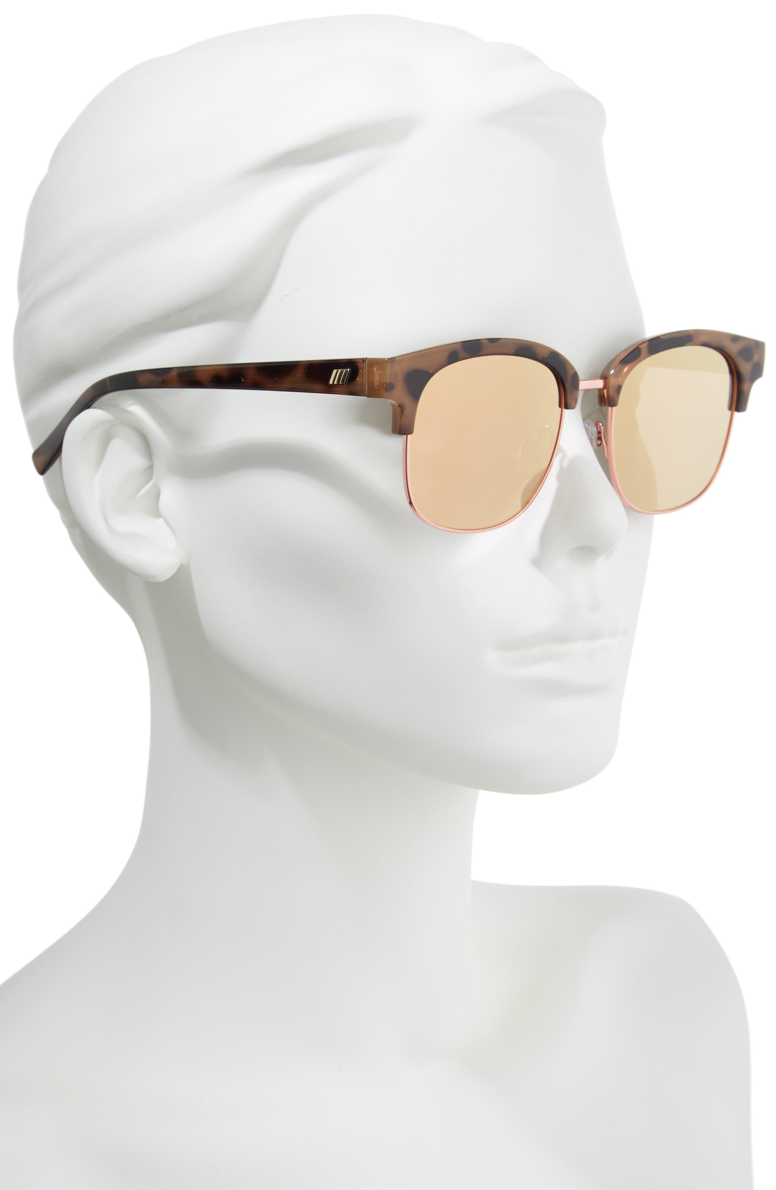 Recognition 53mm Sunglasses,                             Alternate thumbnail 2, color,                             Apricot Tortoise