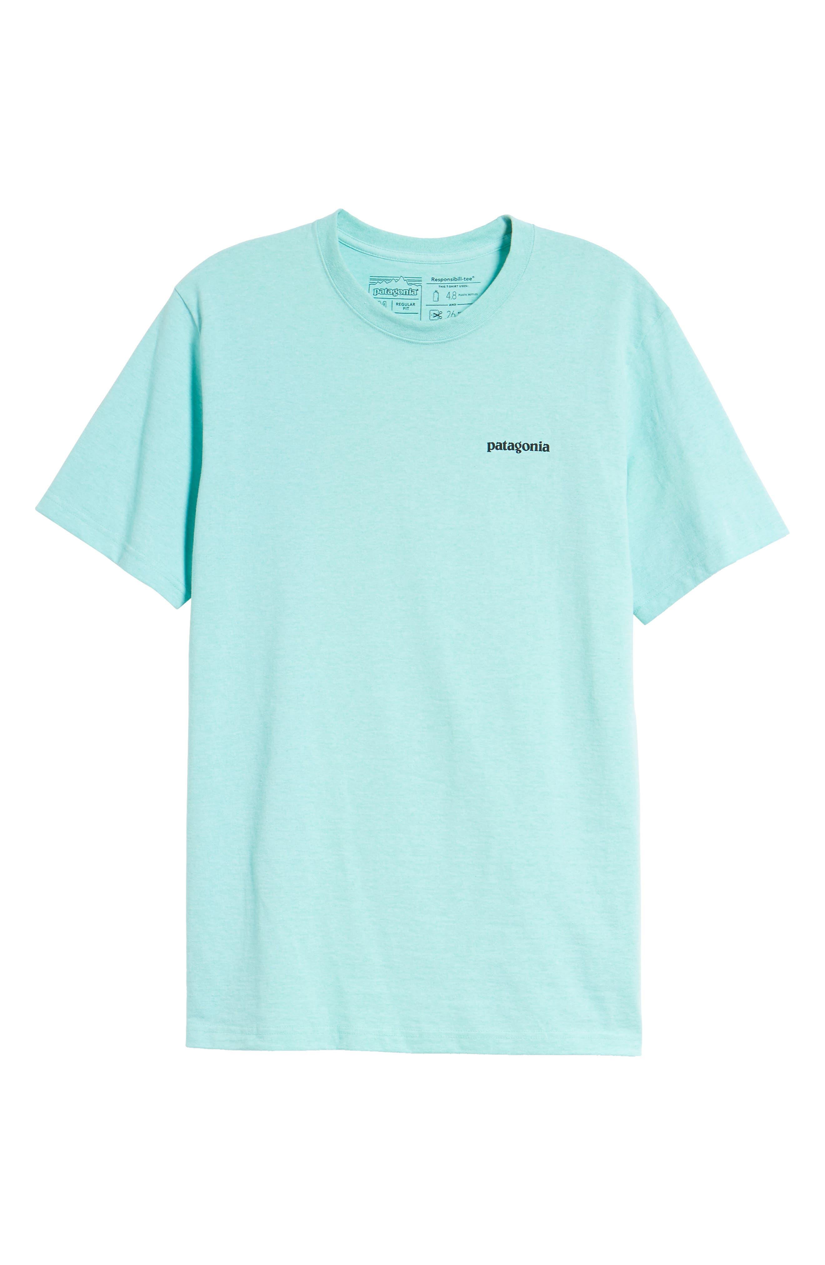 Fitz Roy Trout Crewneck T-Shirt,                             Alternate thumbnail 6, color,                             Bend Blue