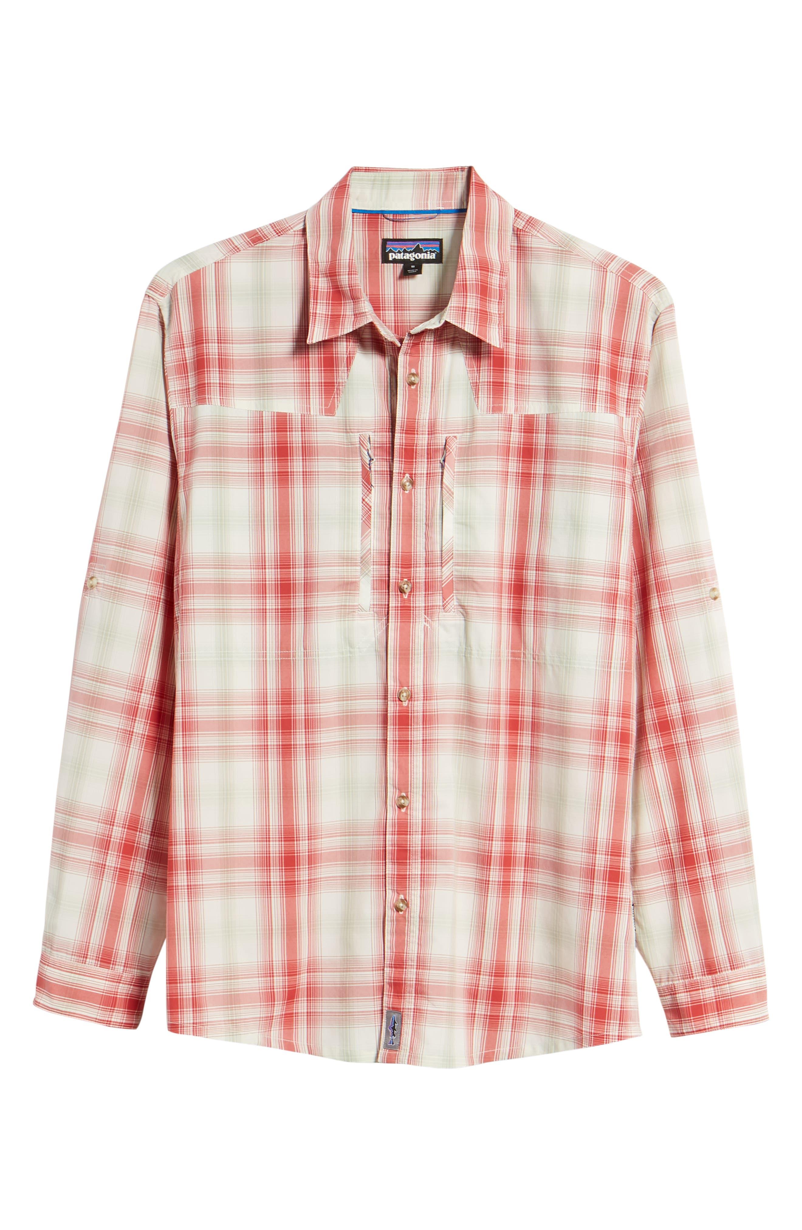 Regular Fit Plaid Sport Shirt,                             Alternate thumbnail 6, color,                             King Swing/ Static Red