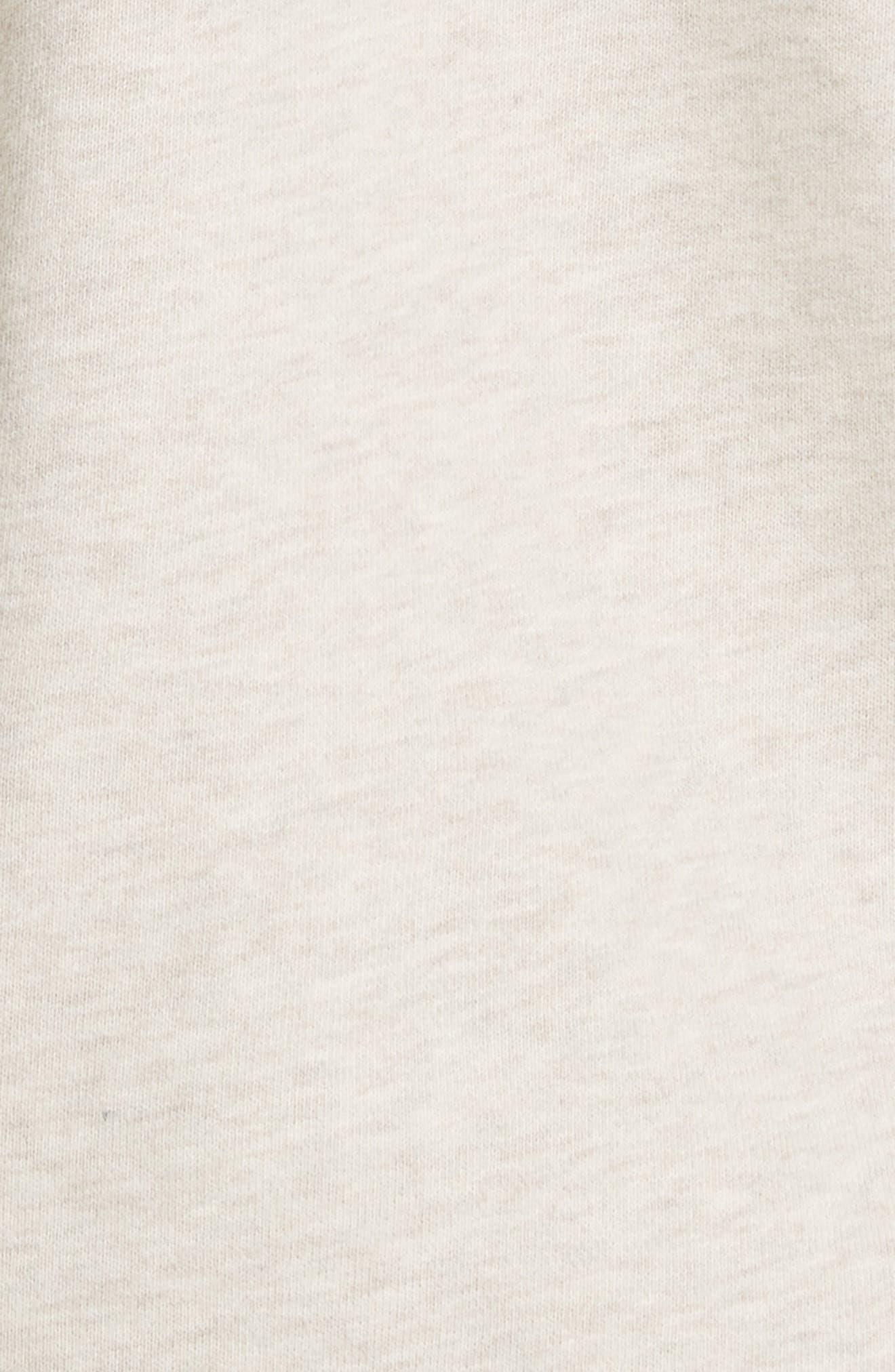 Half Zip Cotton Hoodie Sweatshirt,                             Alternate thumbnail 5, color,                             H Burlap