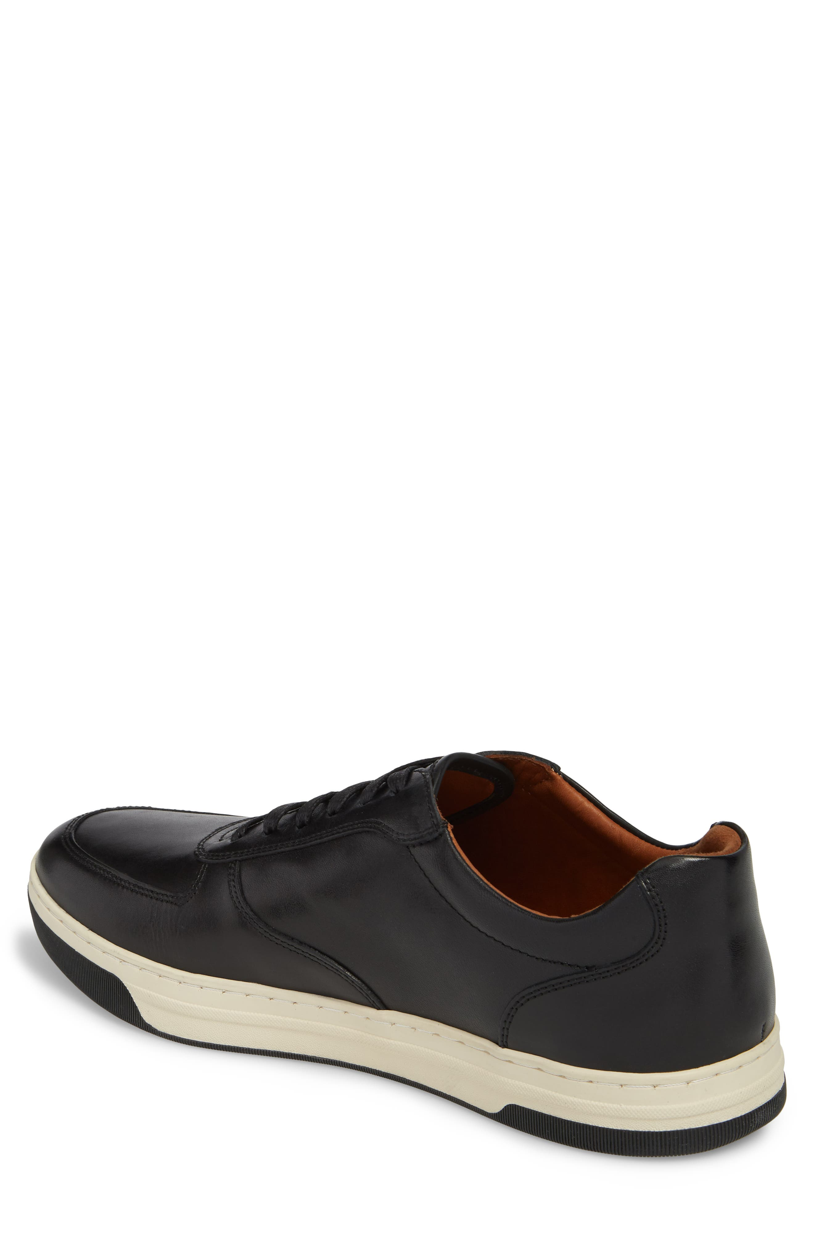 Fenton Low Top Sneaker,                             Alternate thumbnail 2, color,                             Black Leather