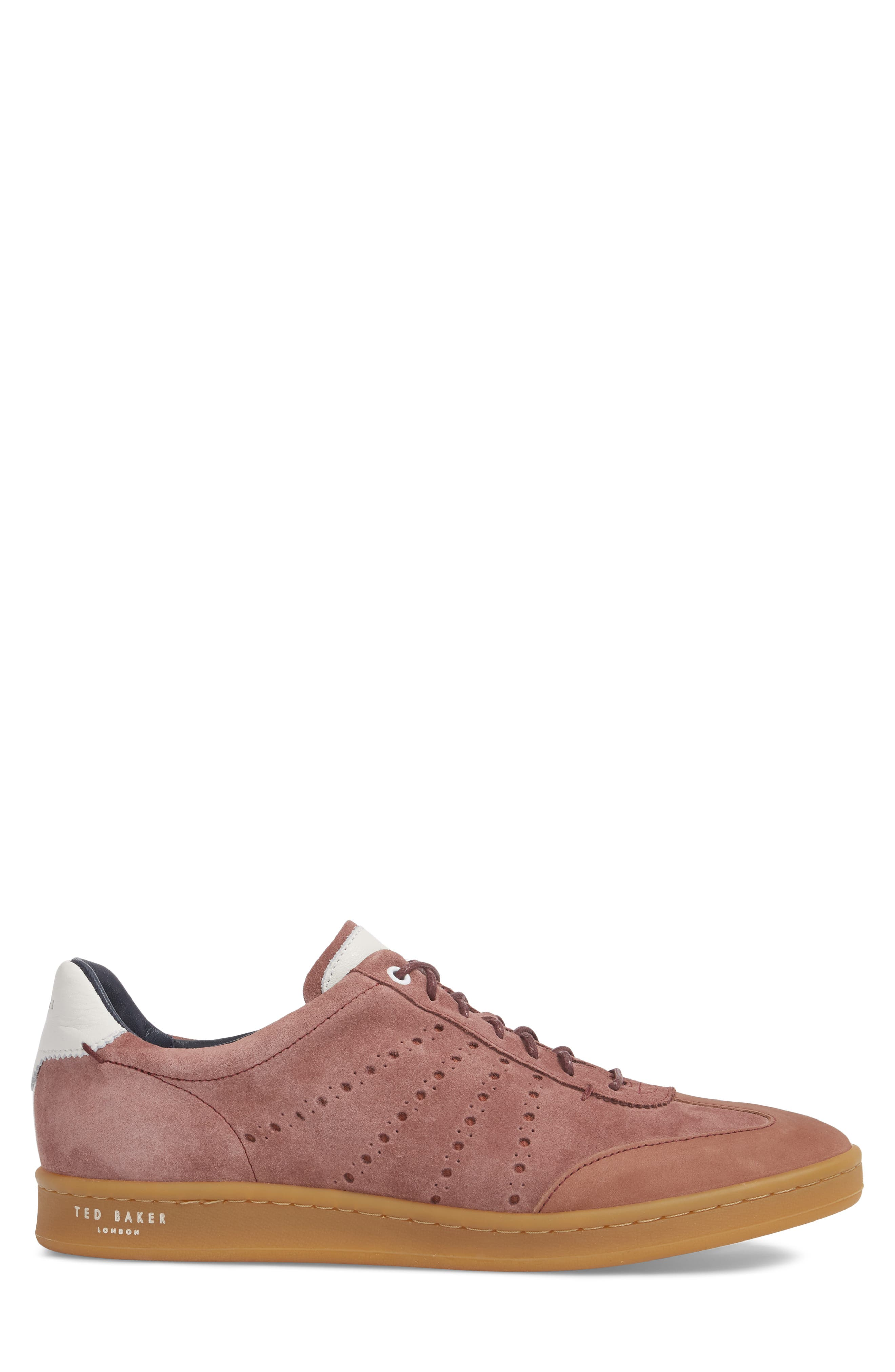 Orlees Low Top Sneaker,                             Alternate thumbnail 3, color,                             Pink Leather/ Suede