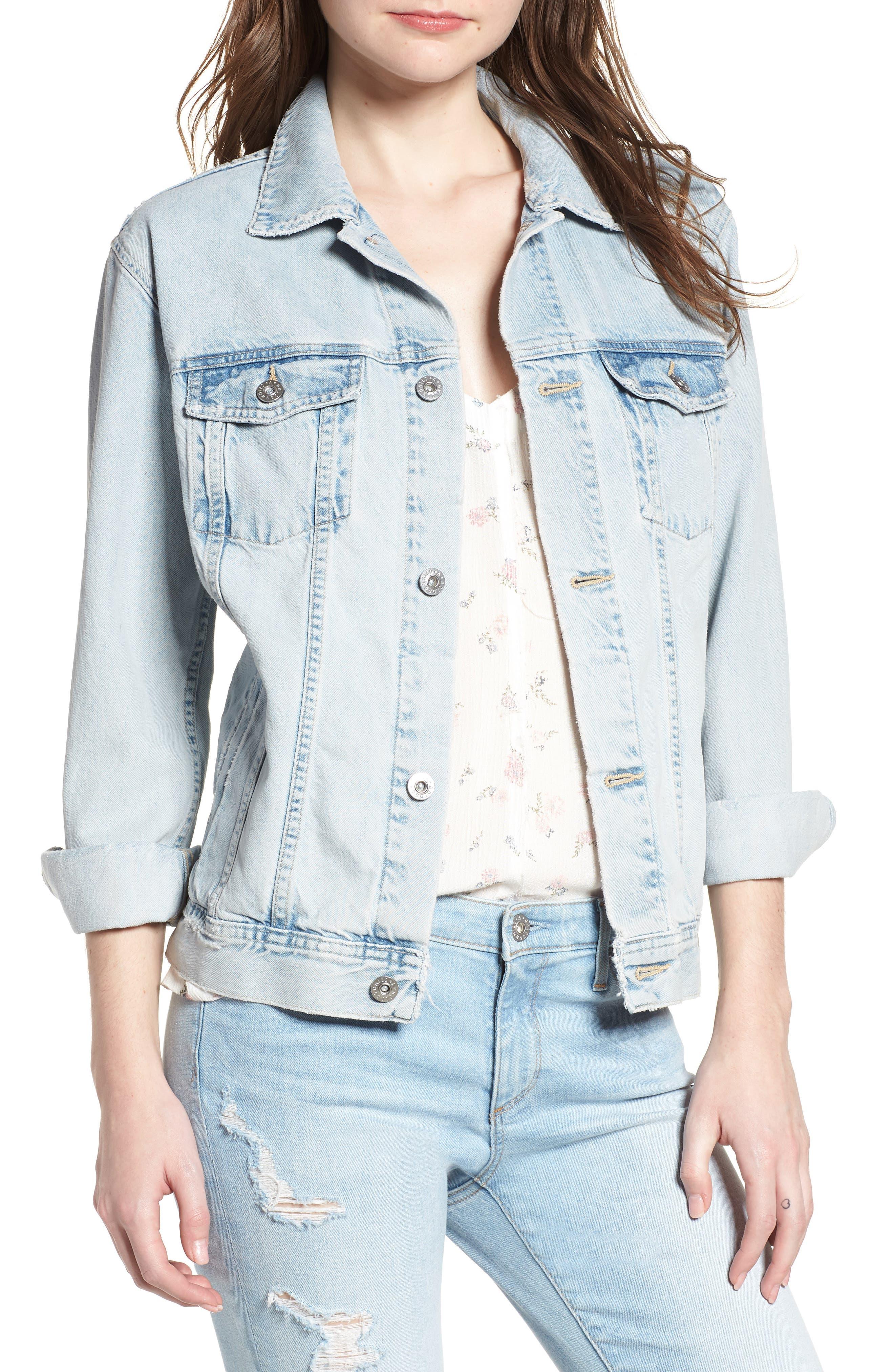 Nancy Denim Jacket,                         Main,                         color, Shattered Indigo