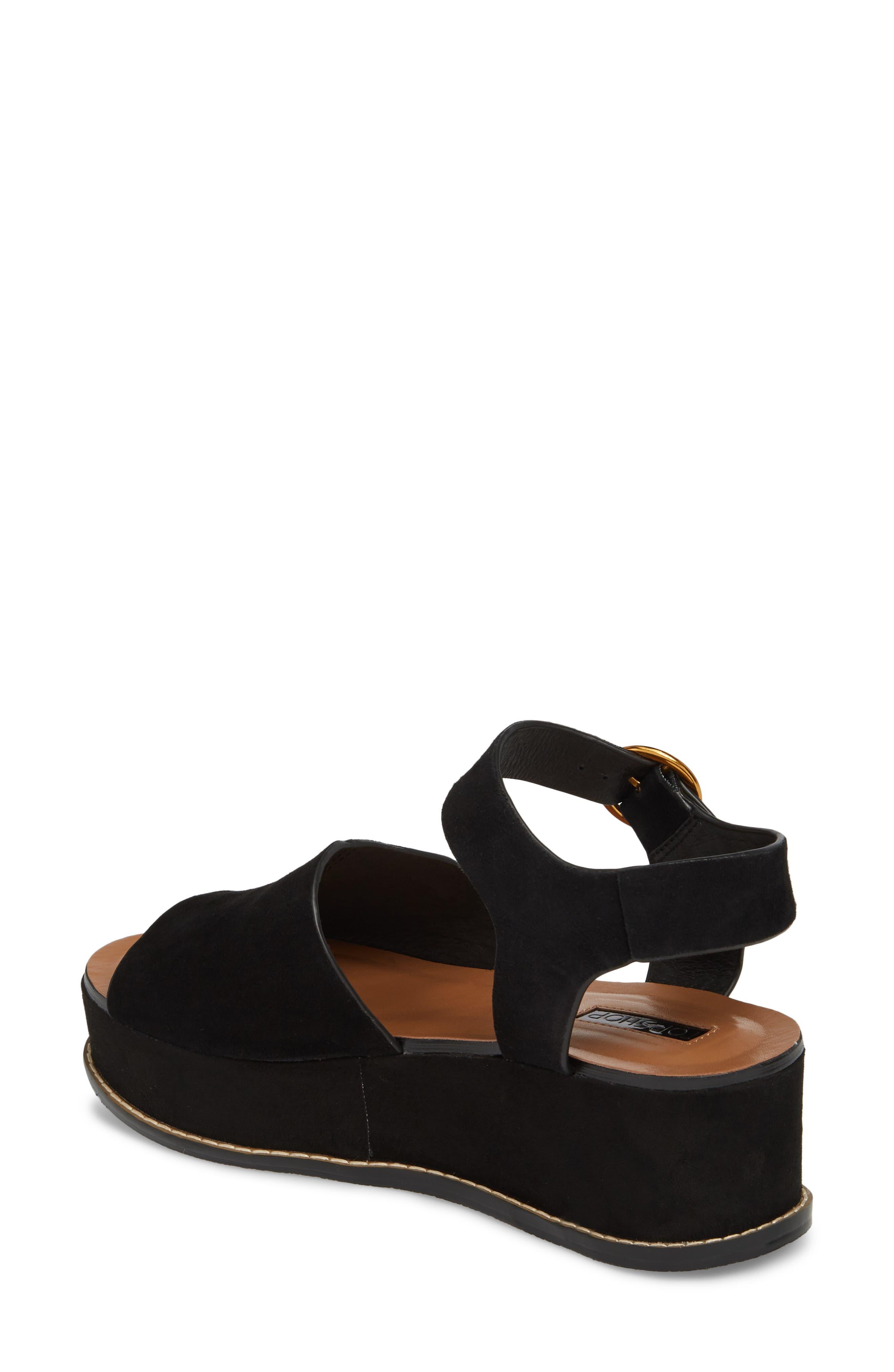 Wow Platform Wedge Sandal,                             Alternate thumbnail 2, color,                             Black