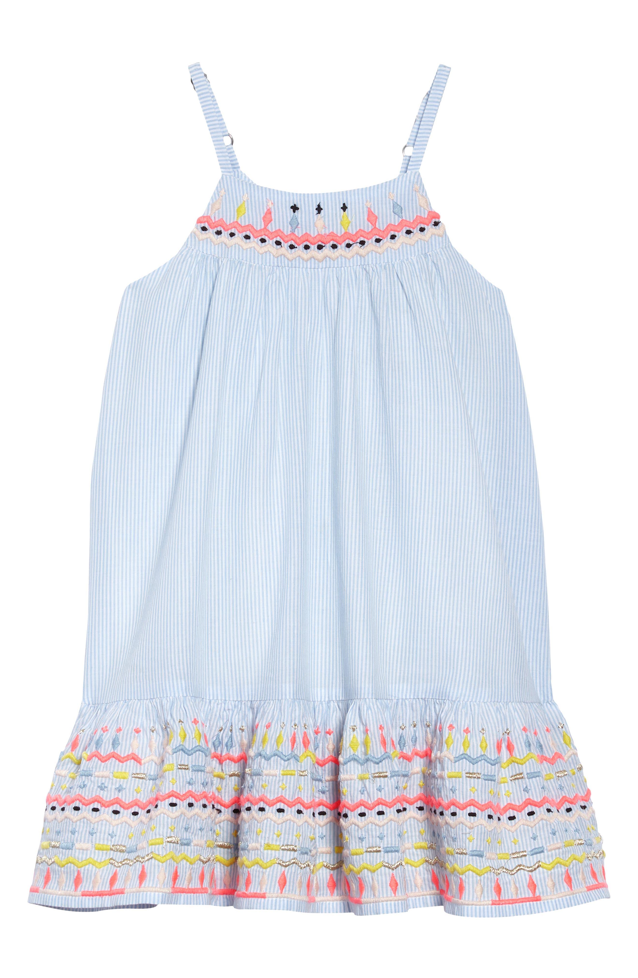 Peek Gia Embroidered Stripe Dress (Toddler Girls, Little Girls & Big Girls)