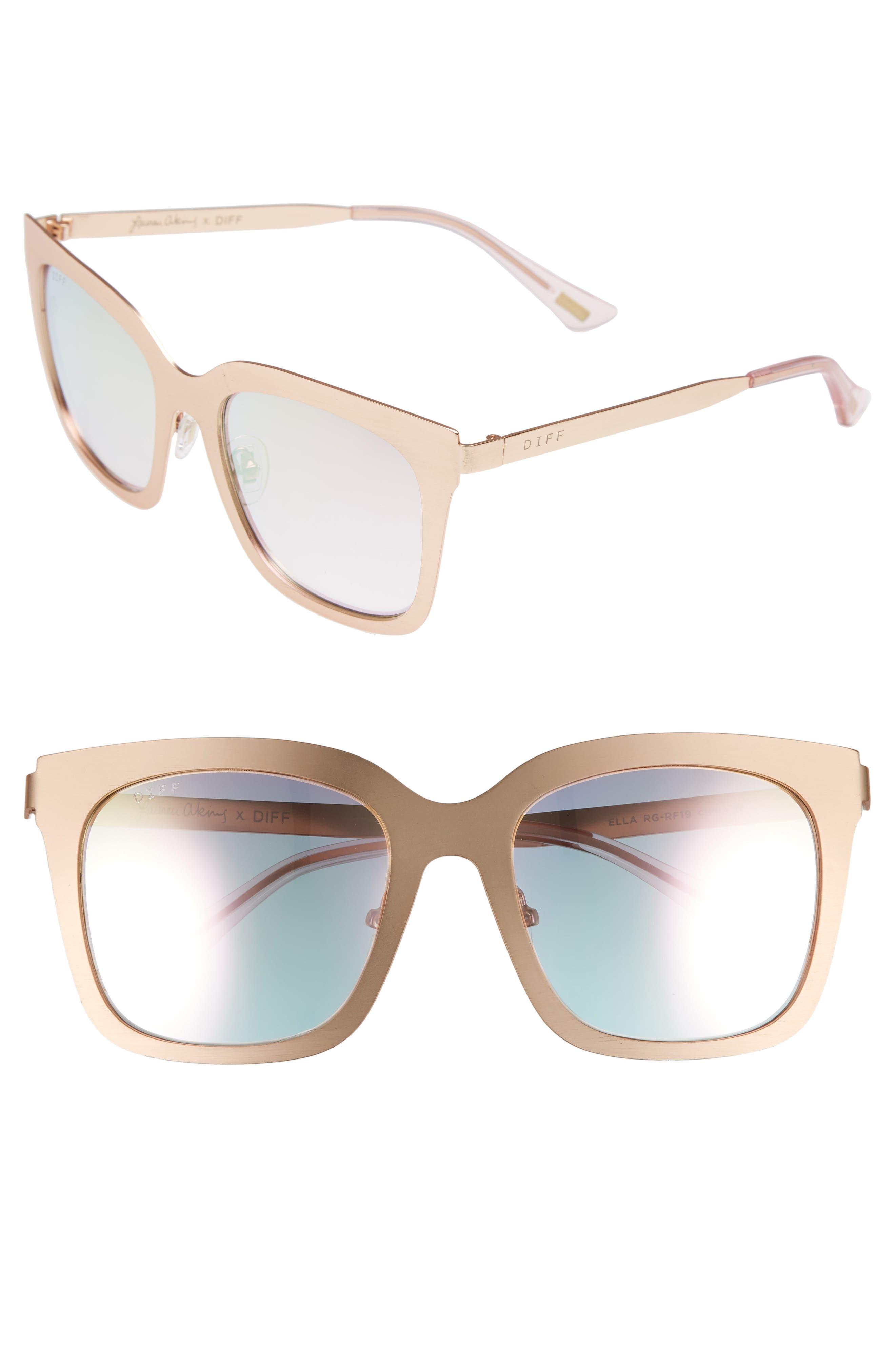 DIFF x Lauren Akins Ella 53mm Cat Eye Sunglasses