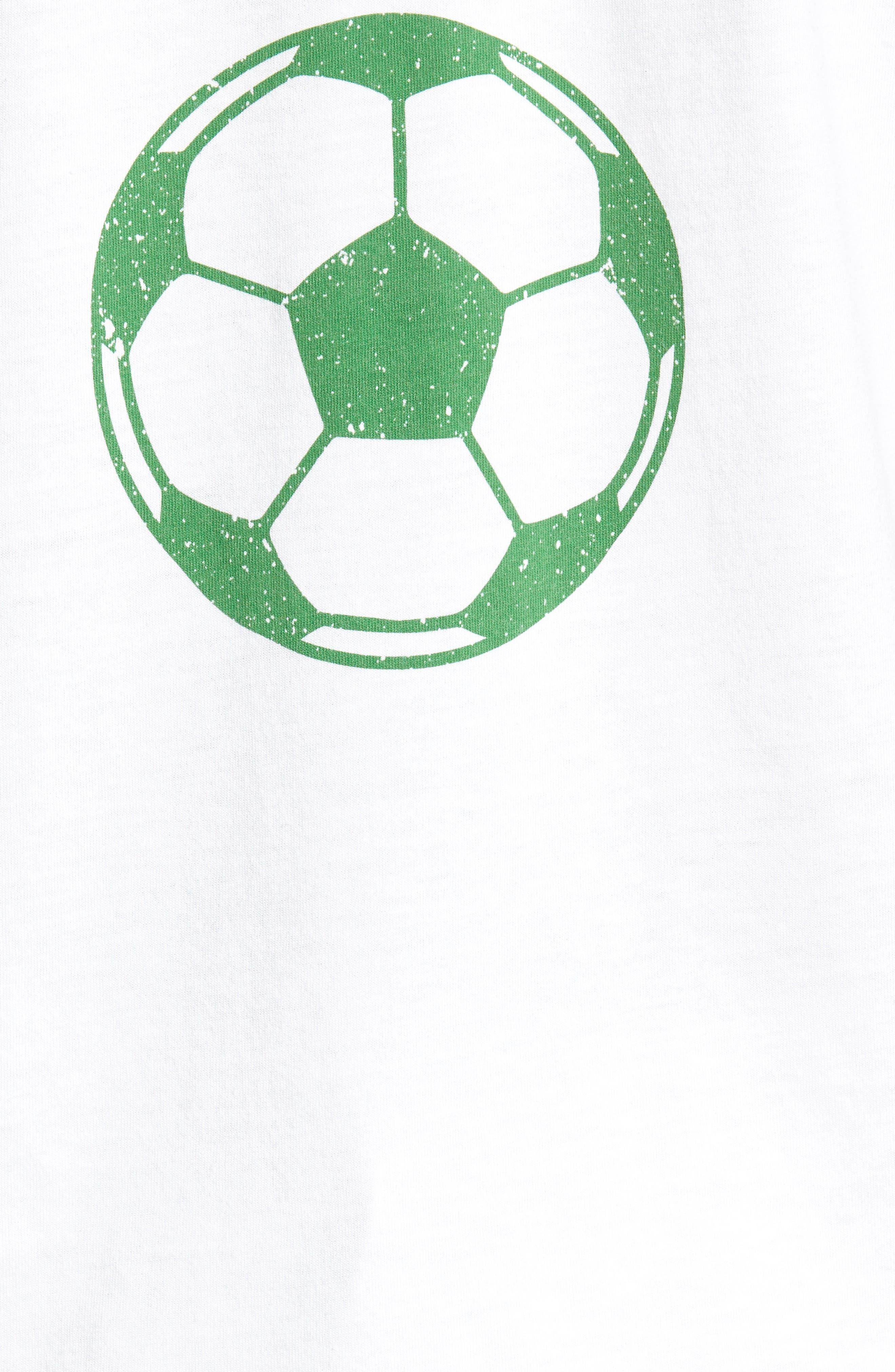 Brasil Futbol T-Shirt,                             Alternate thumbnail 5, color,                             White