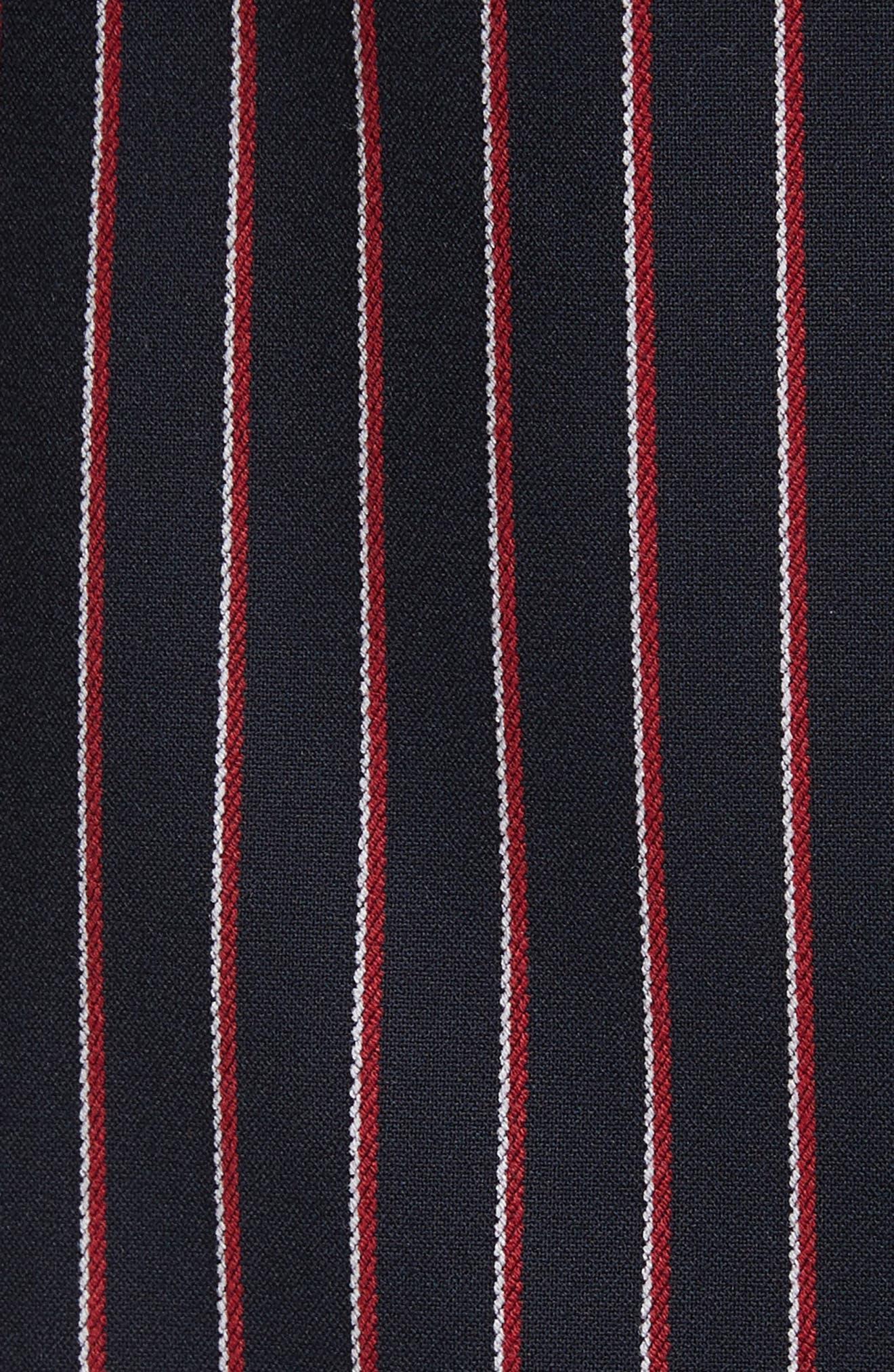 Pinstripe Suit Jacket,                             Alternate thumbnail 6, color,                             Navy
