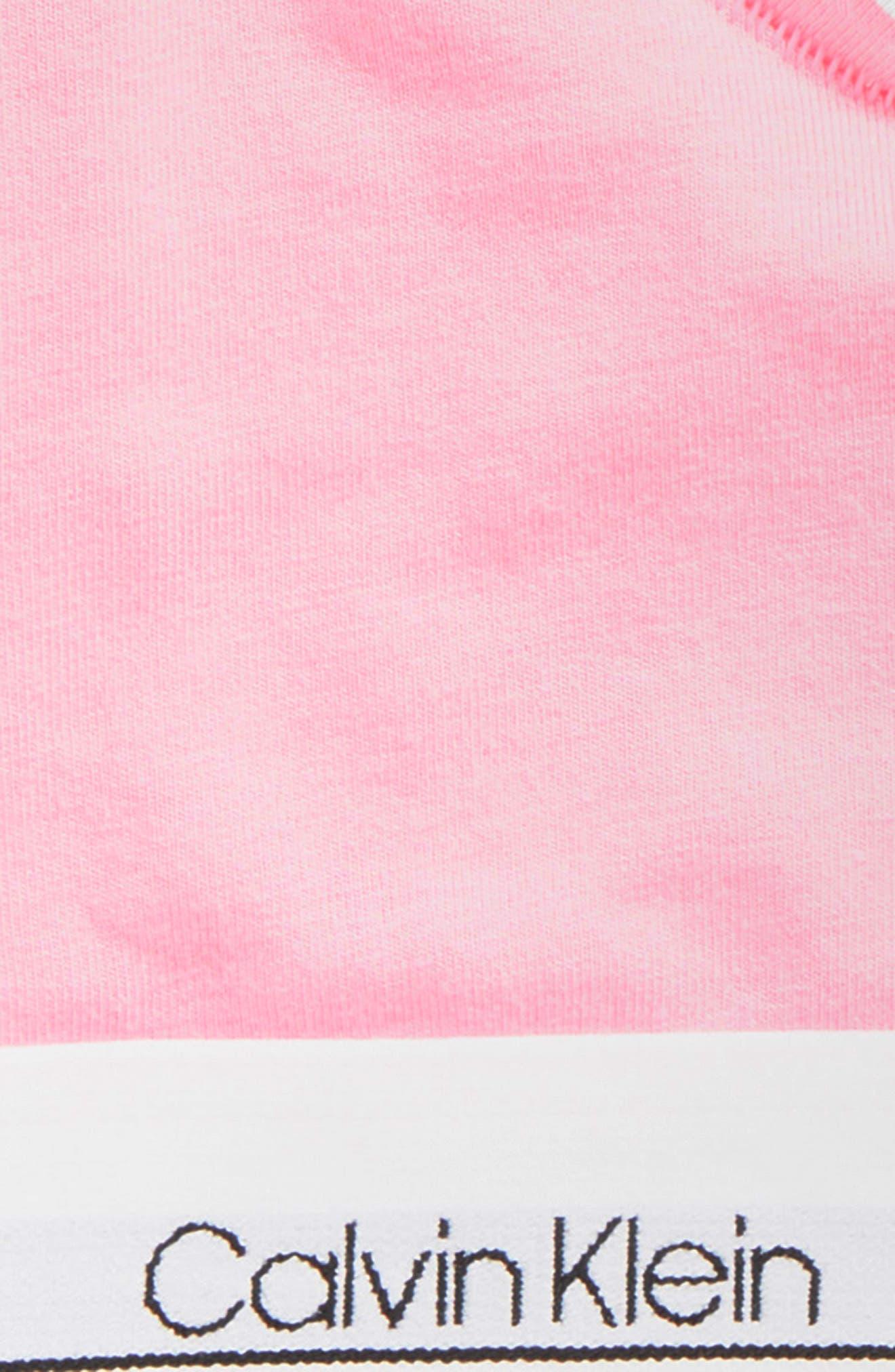 Logo Bralette,                             Alternate thumbnail 2, color,                             Sachet Pink