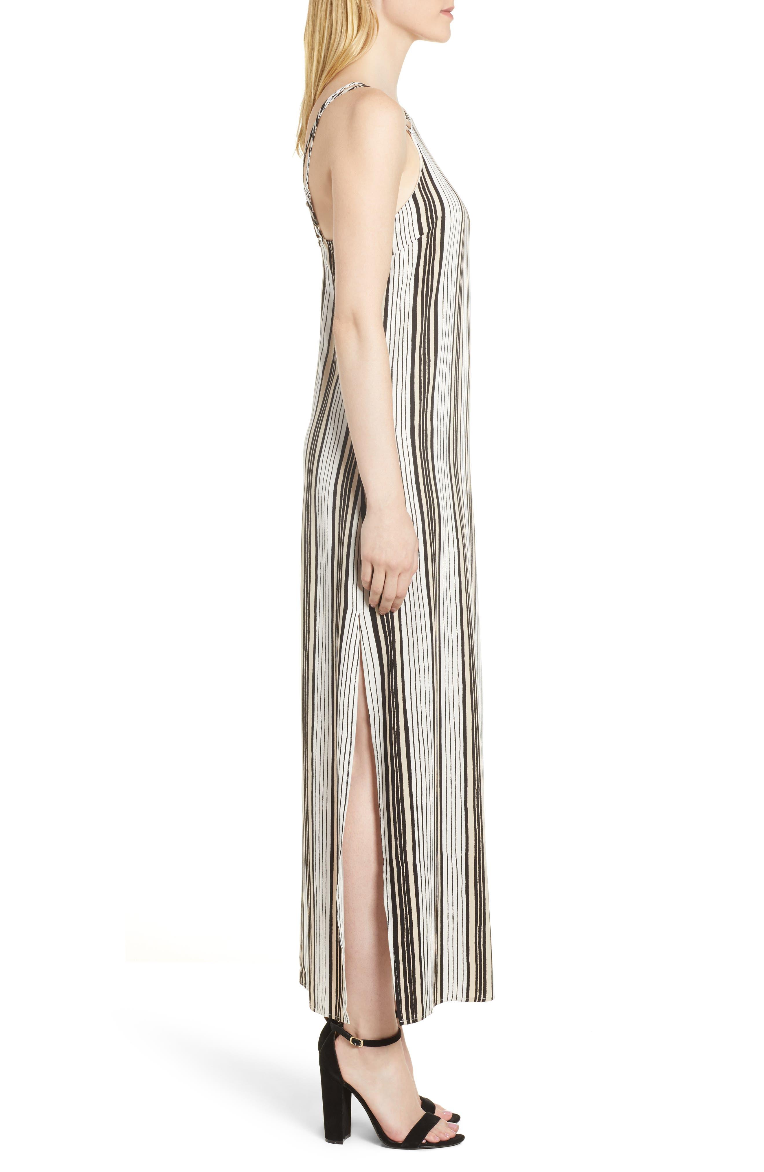 Corin Stripe Maxi Dress,                             Alternate thumbnail 3, color,                             Ivory
