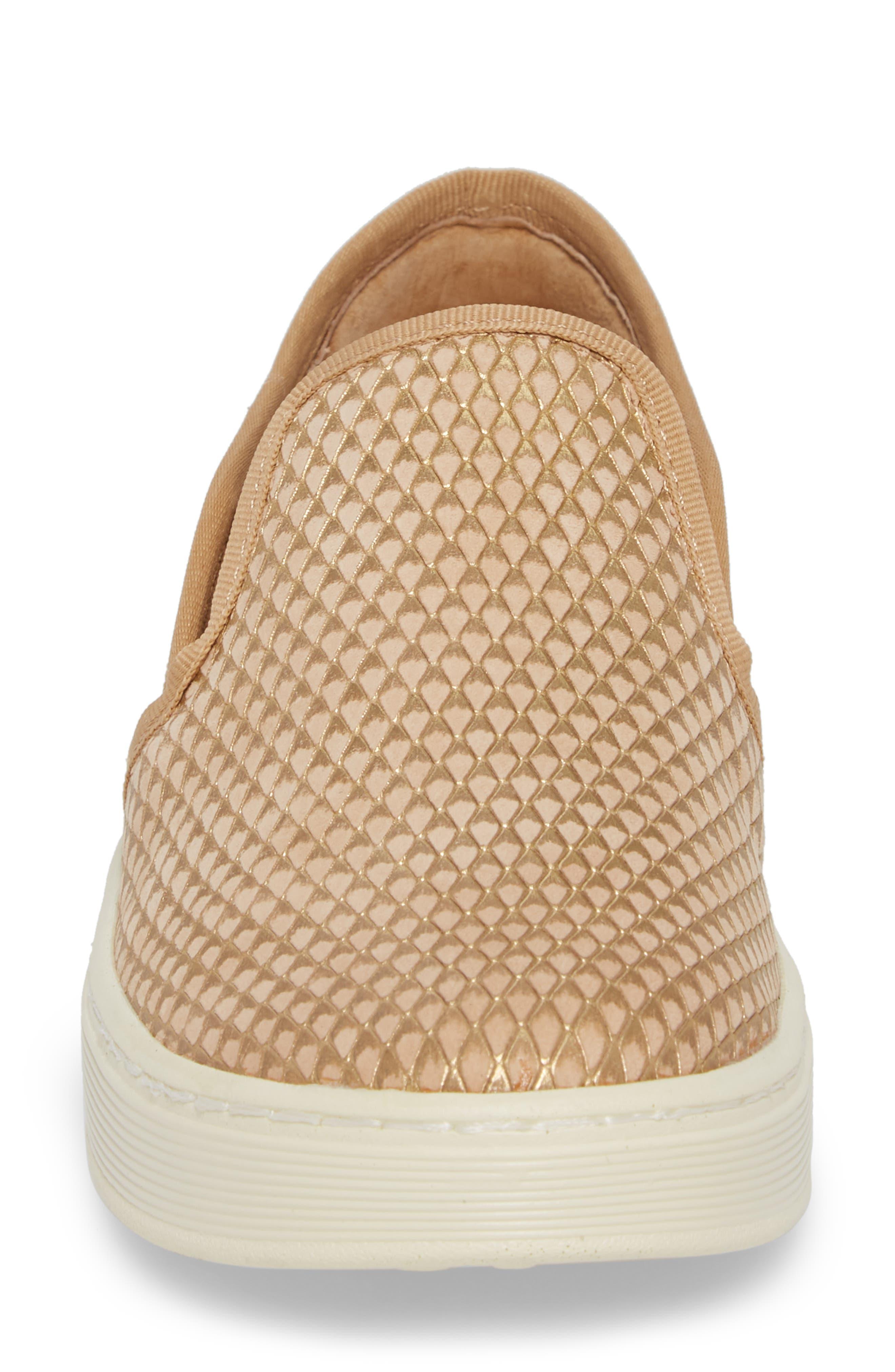 'Somers' Slip-On Sneaker,                             Alternate thumbnail 4, color,                             Sand Nubuck