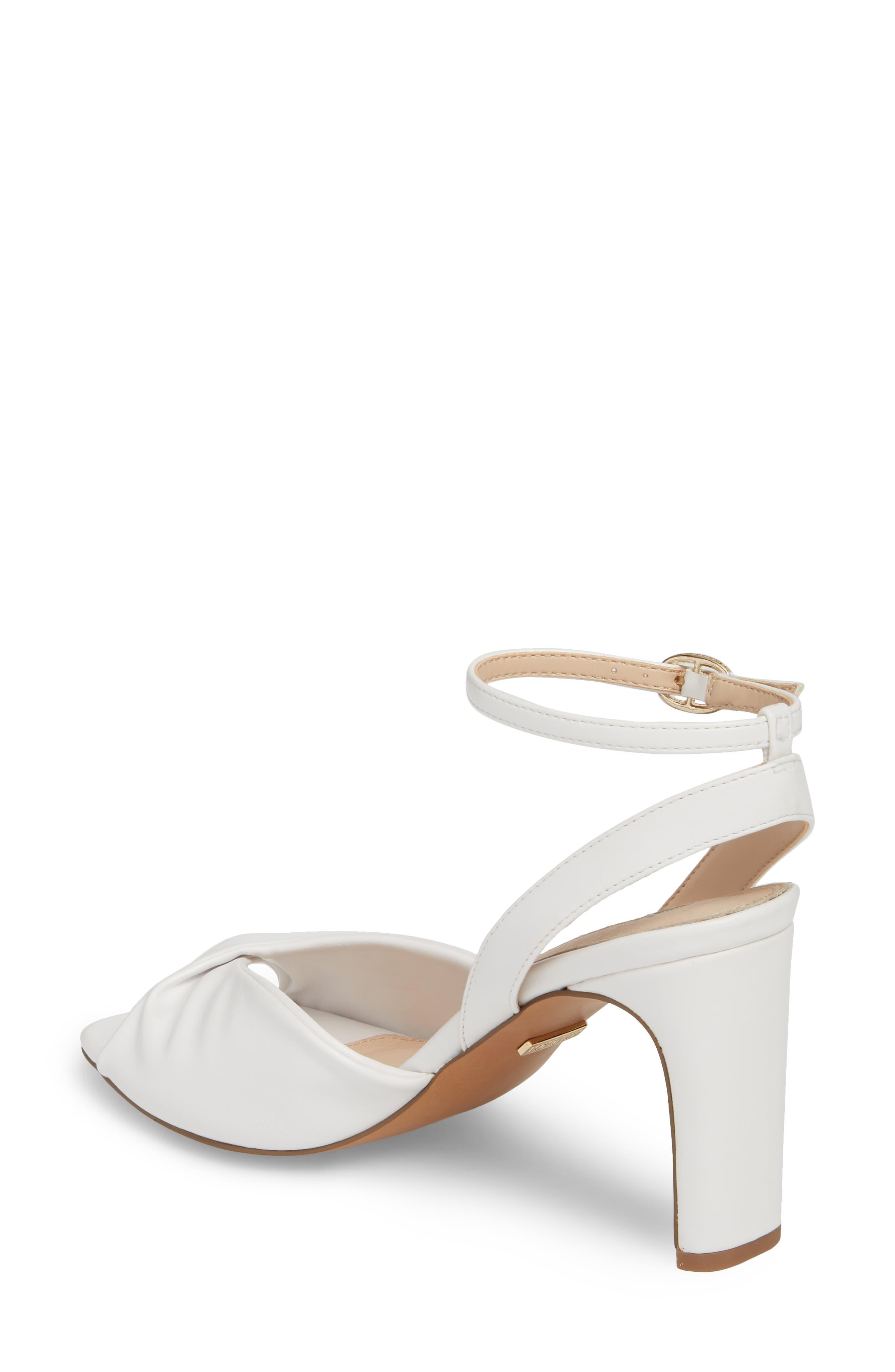 Raven Skinny Heel Sandal,                             Alternate thumbnail 2, color,                             White