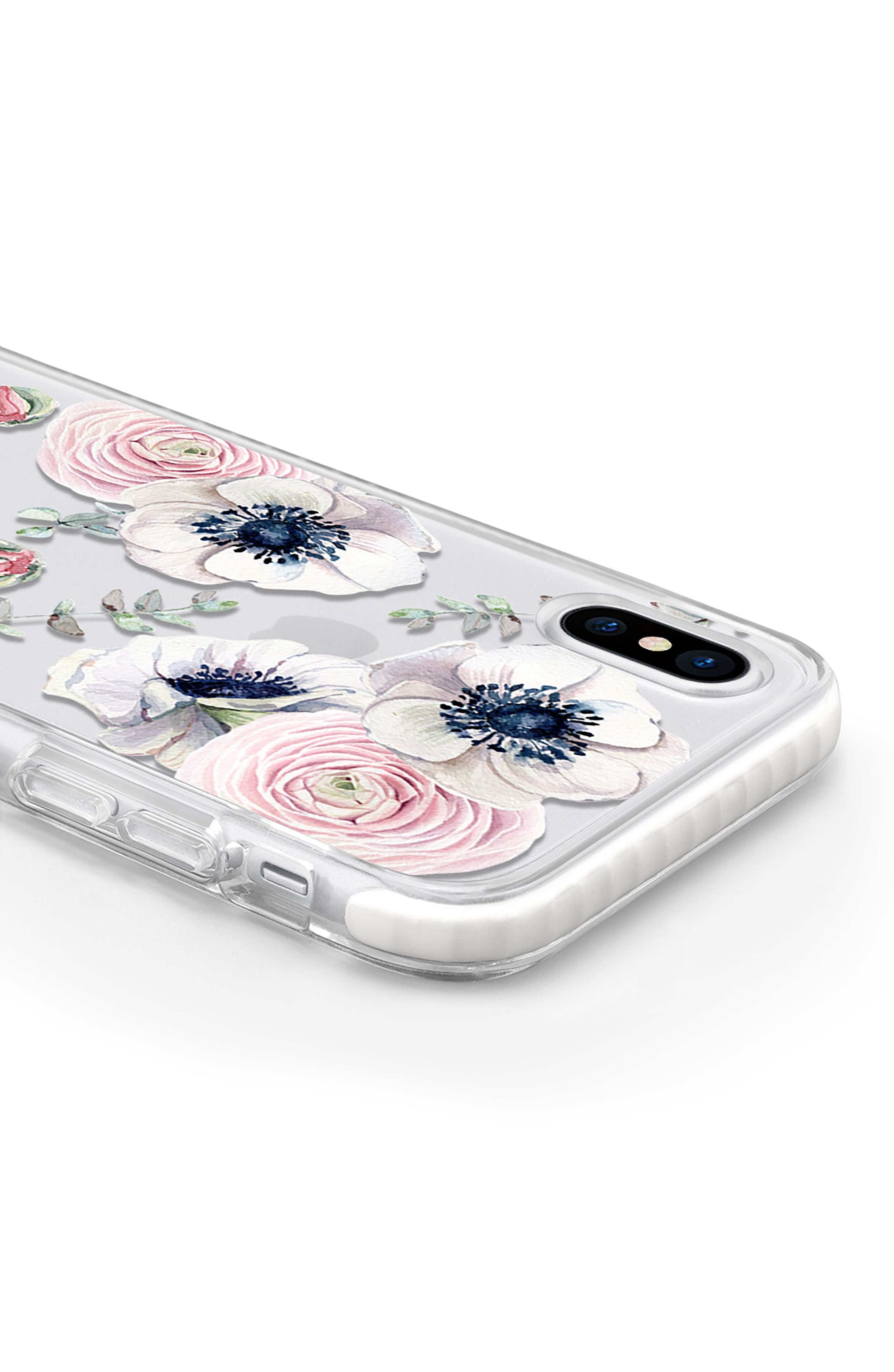 Blossom Love iPhone X Case,                             Alternate thumbnail 4, color,                             Clear Multi