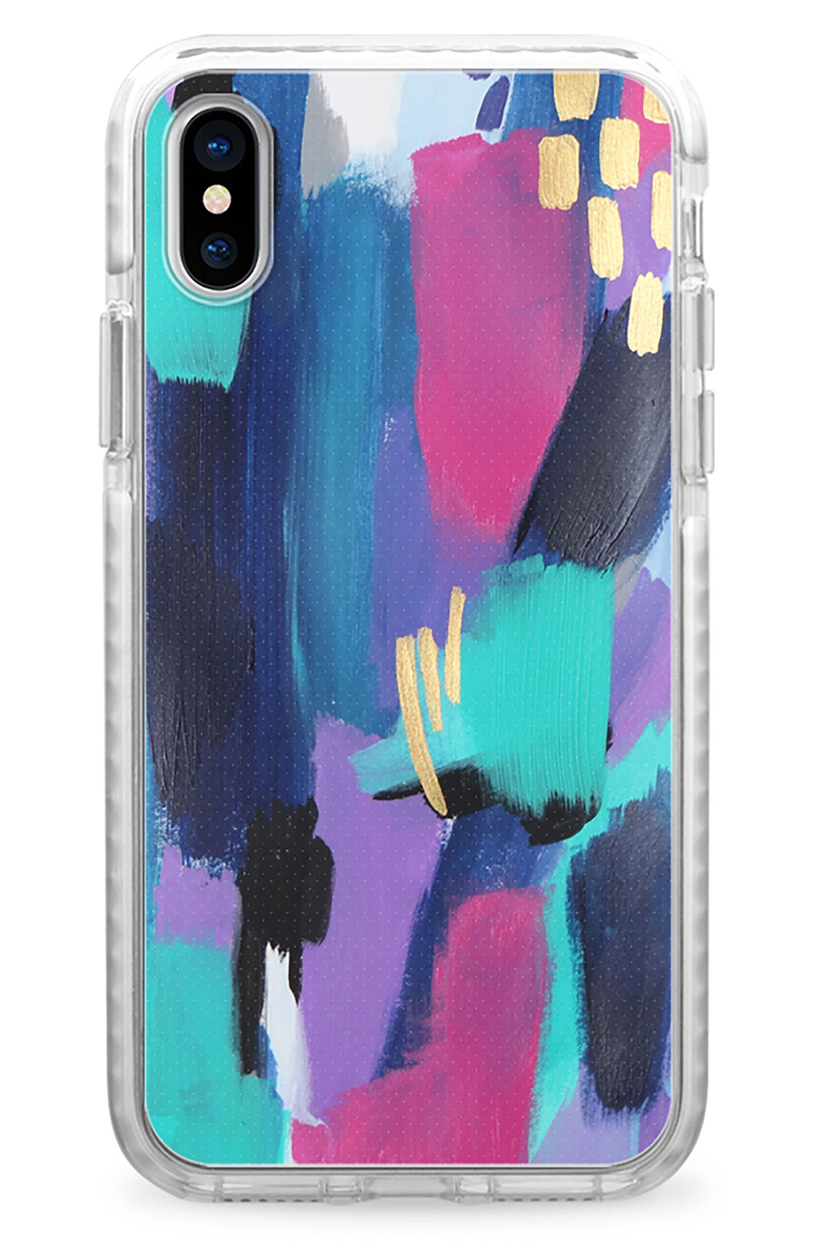 Glitz Glam iPhone X Case,                             Main thumbnail 1, color,                             Multi