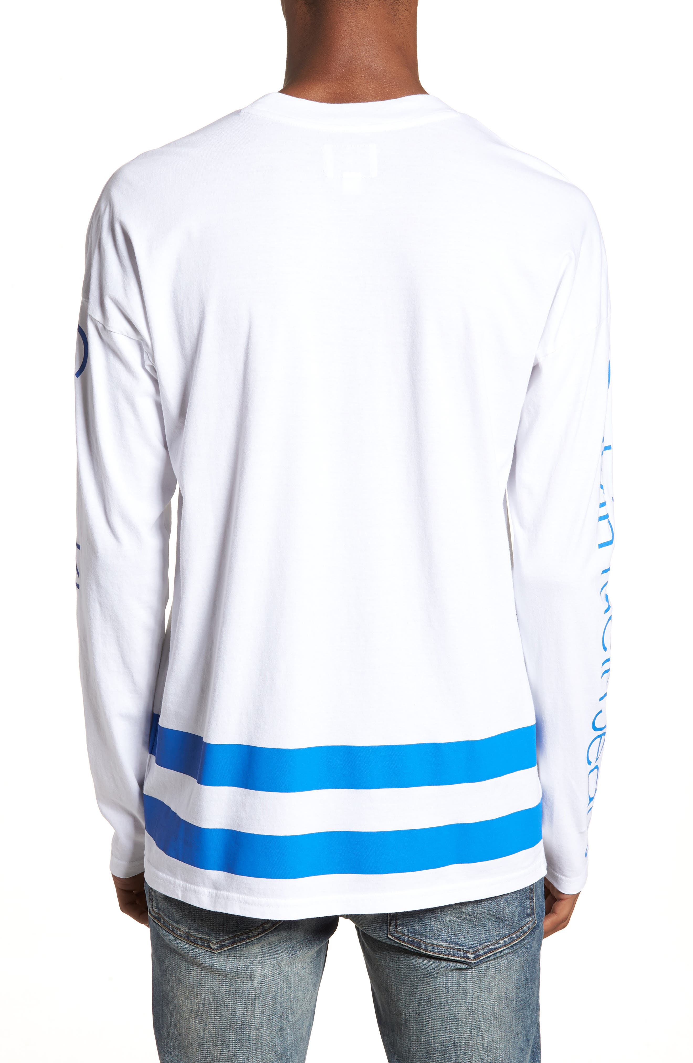Athletic Stripe T-Shirt,                             Alternate thumbnail 2, color,                             Strong Blue