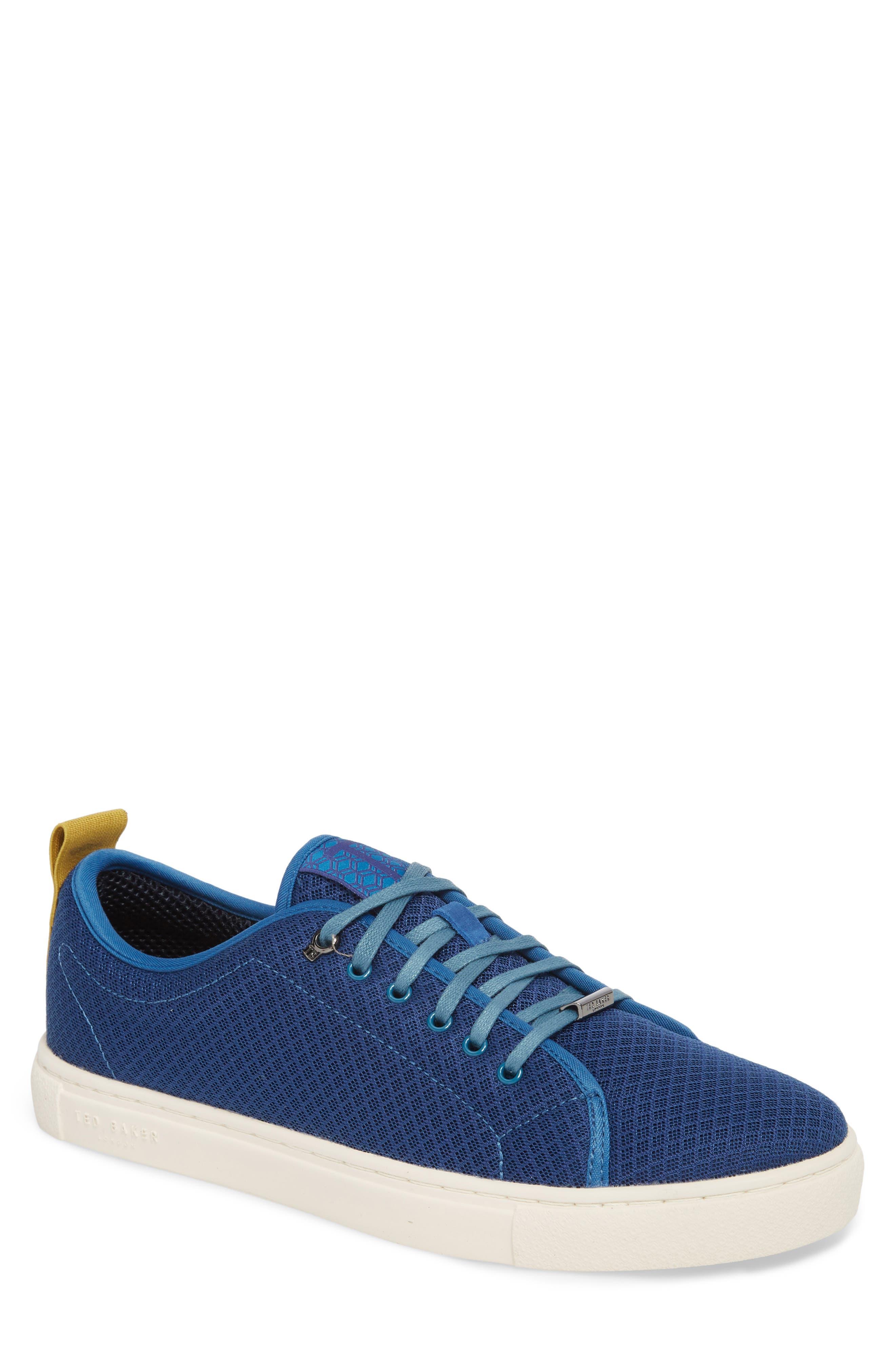 Lannse Low Top Mesh Sneaker,                         Main,                         color, Blue Textile