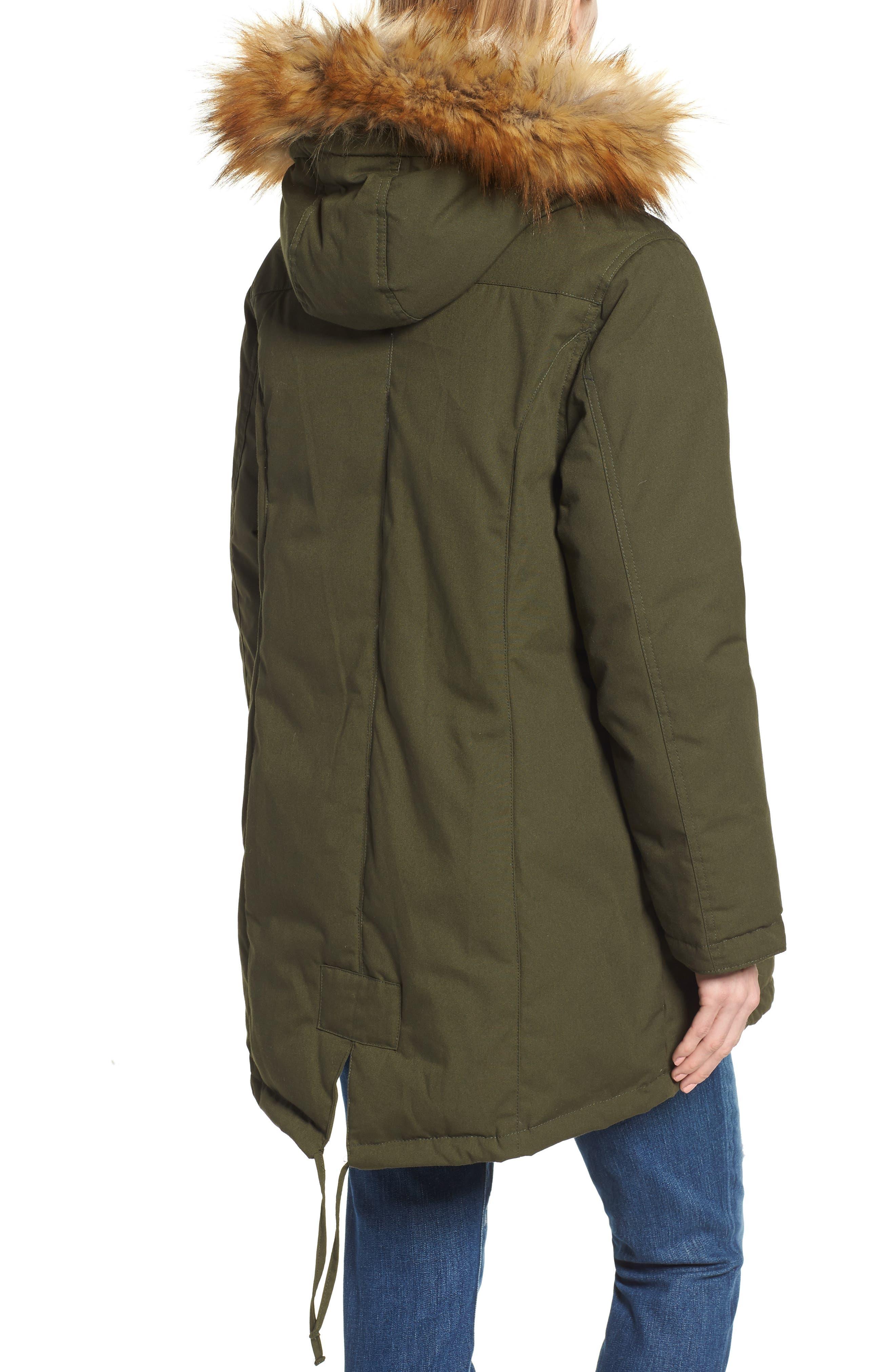 Convertible Down 3-in-1 Maternity Jacket,                             Alternate thumbnail 3, color,                             Khaki Green