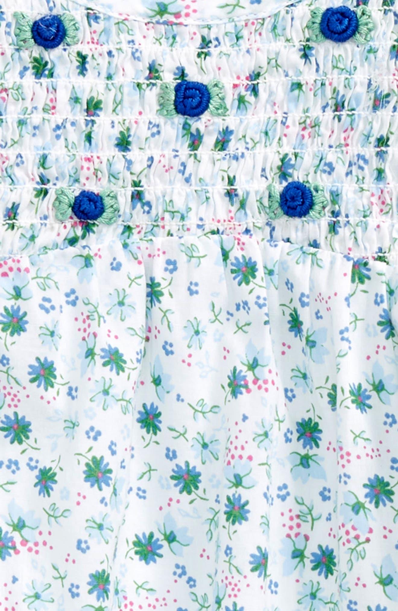 Ditsy Summer Dress,                             Alternate thumbnail 2, color,                             White Devon Floral