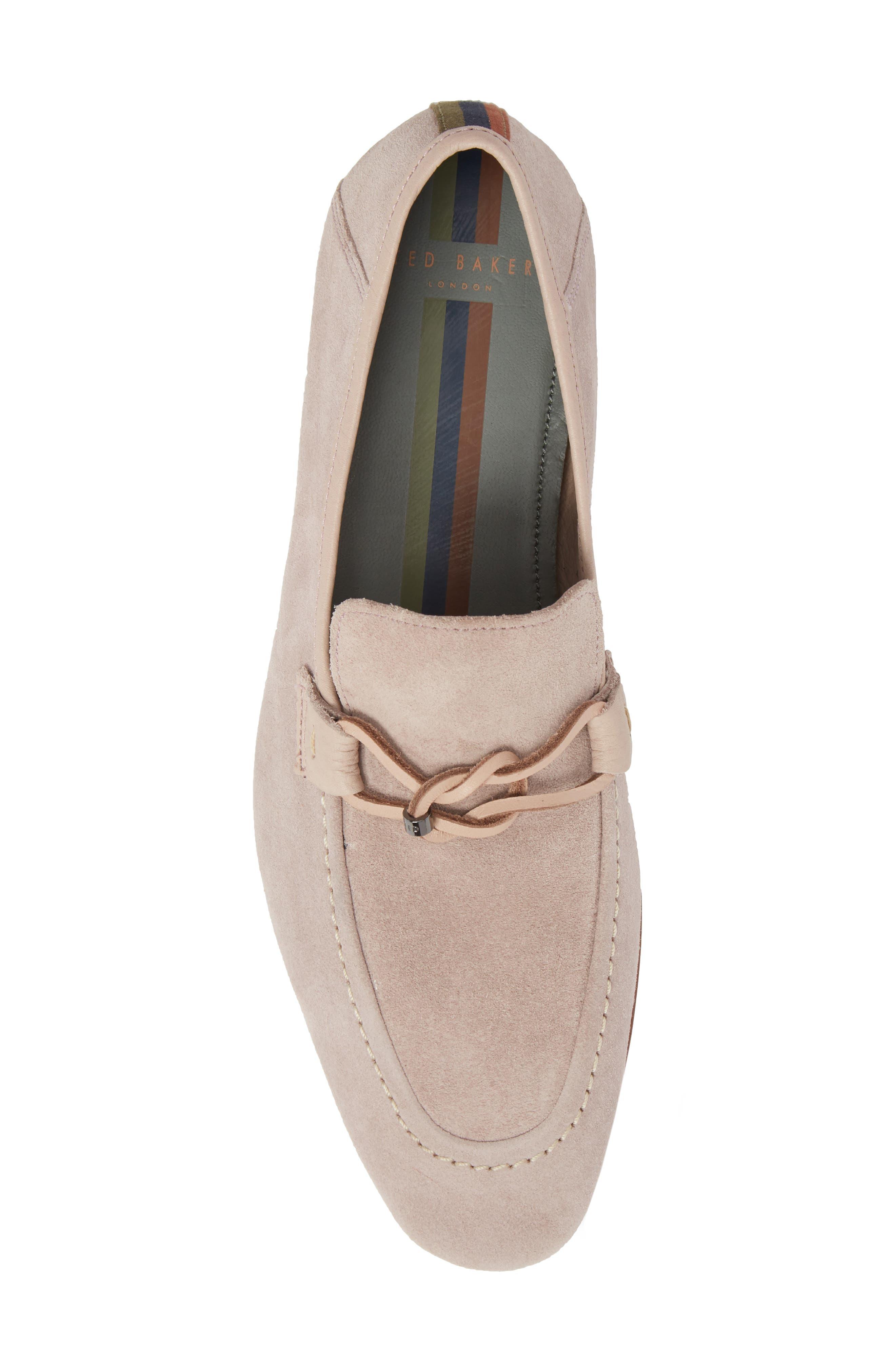 Hoppken Convertible Knotted Loafer,                             Alternate thumbnail 5, color,                             Light Pink Suede