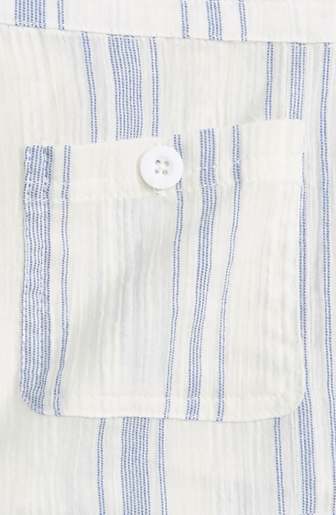 Krissy Stripe Cotton Shorts,                             Alternate thumbnail 3, color,                             White