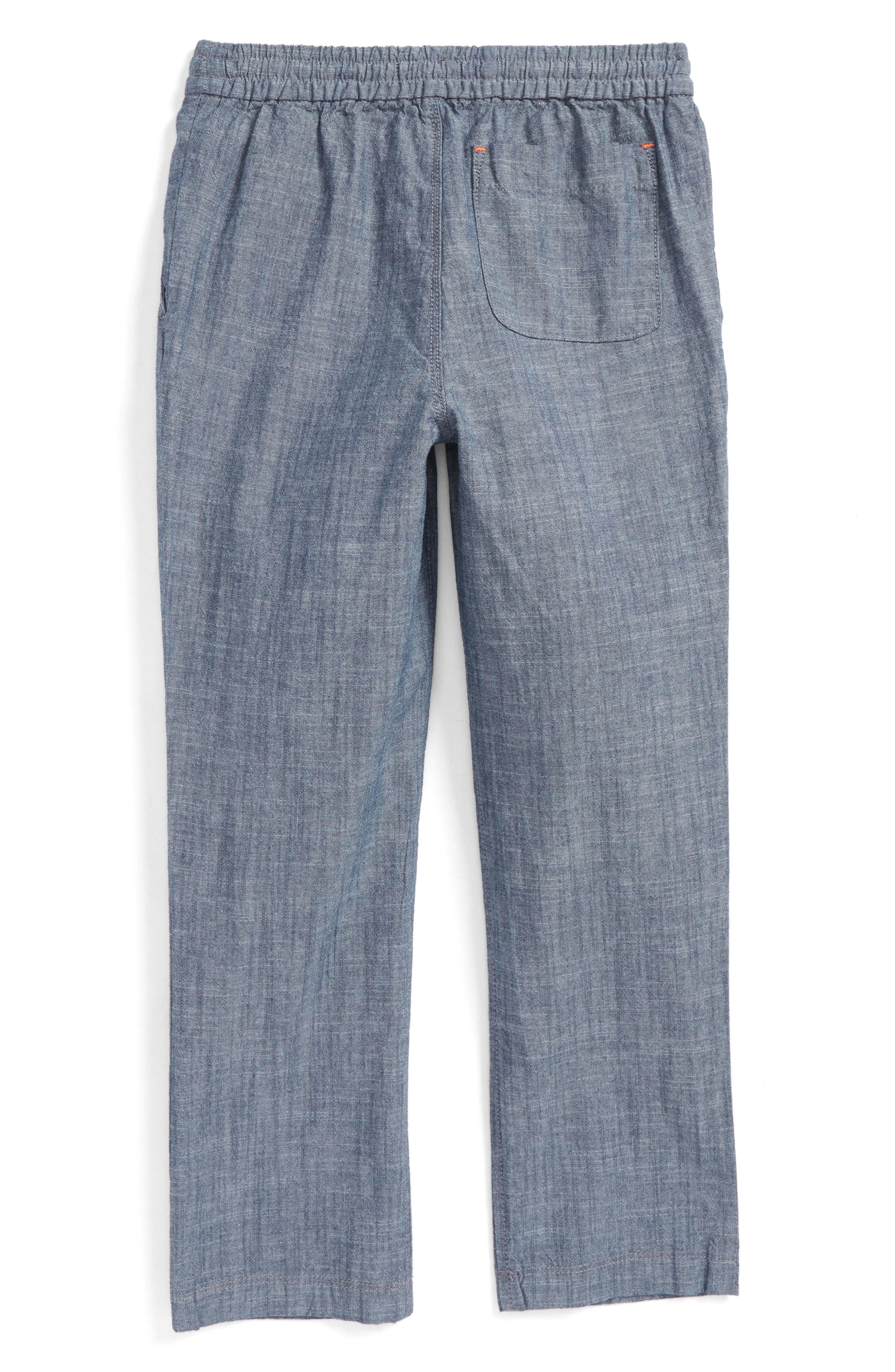 Summer Pull-On Pants,                             Alternate thumbnail 2, color,                             Mid Indigo Chambray