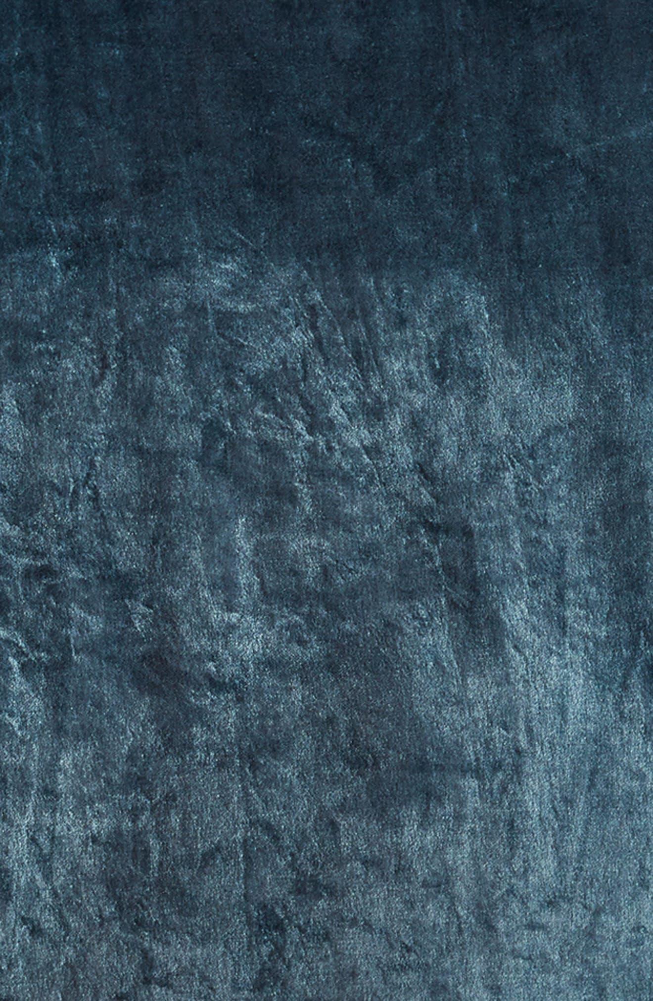 Shimmer Velvet Duvet Cover,                             Alternate thumbnail 2, color,                             Teal Gazer