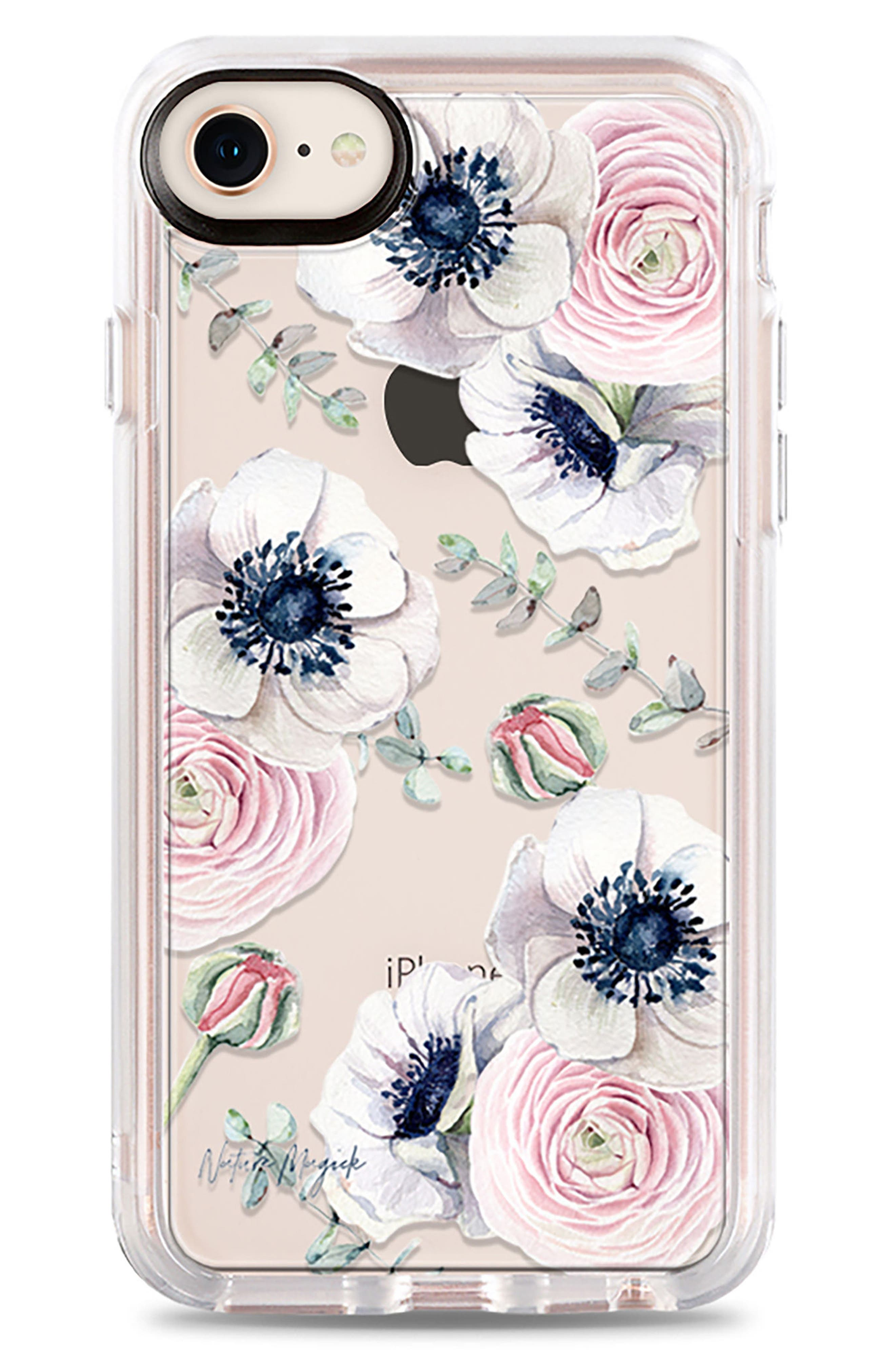 Blossom Love iPhone 7/8 & 7/8 Plus Case,                             Main thumbnail 1, color,                             Clear Multi