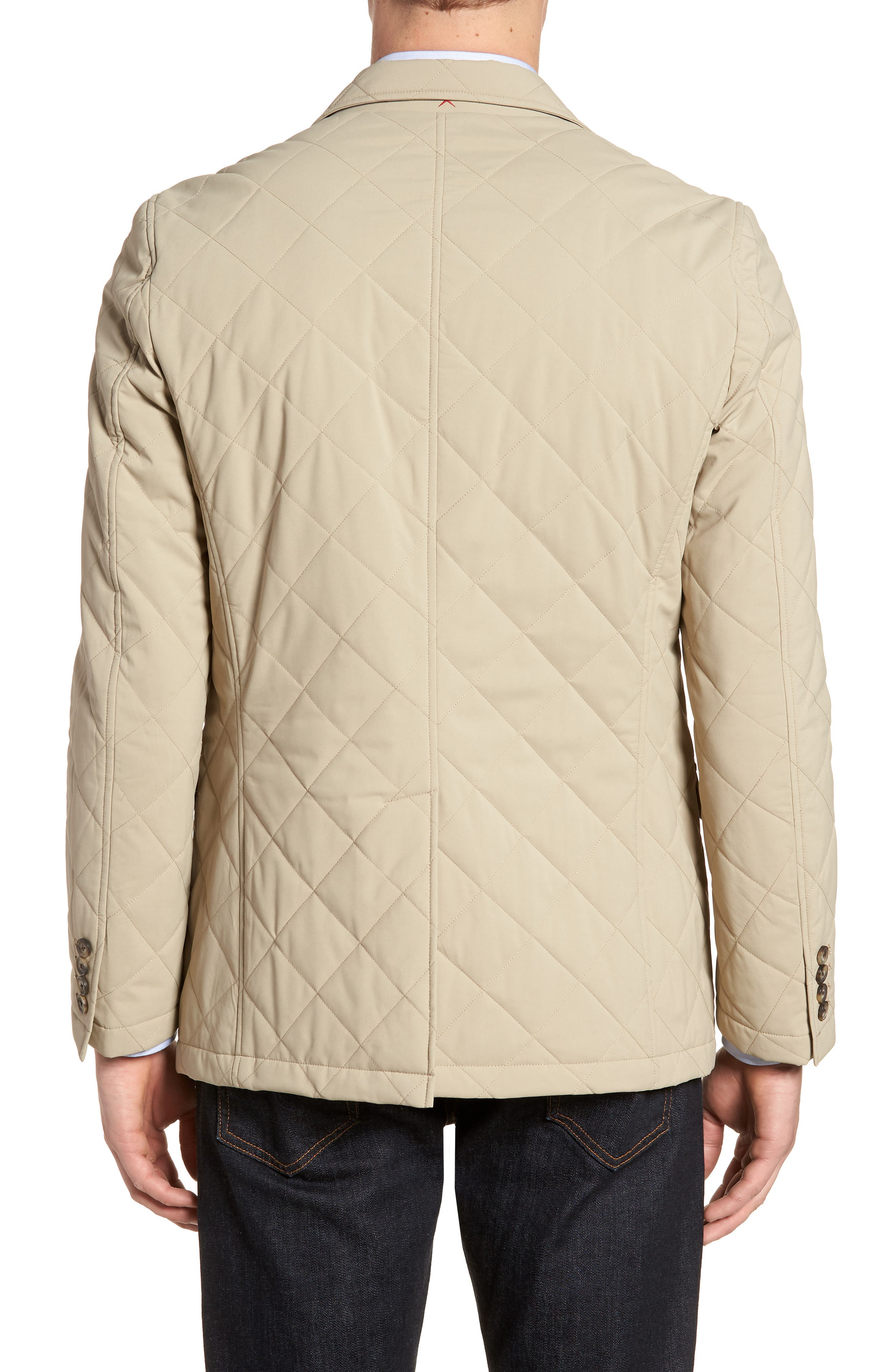 Classic Fit Quilted Blazer,                             Alternate thumbnail 2, color,                             Tan