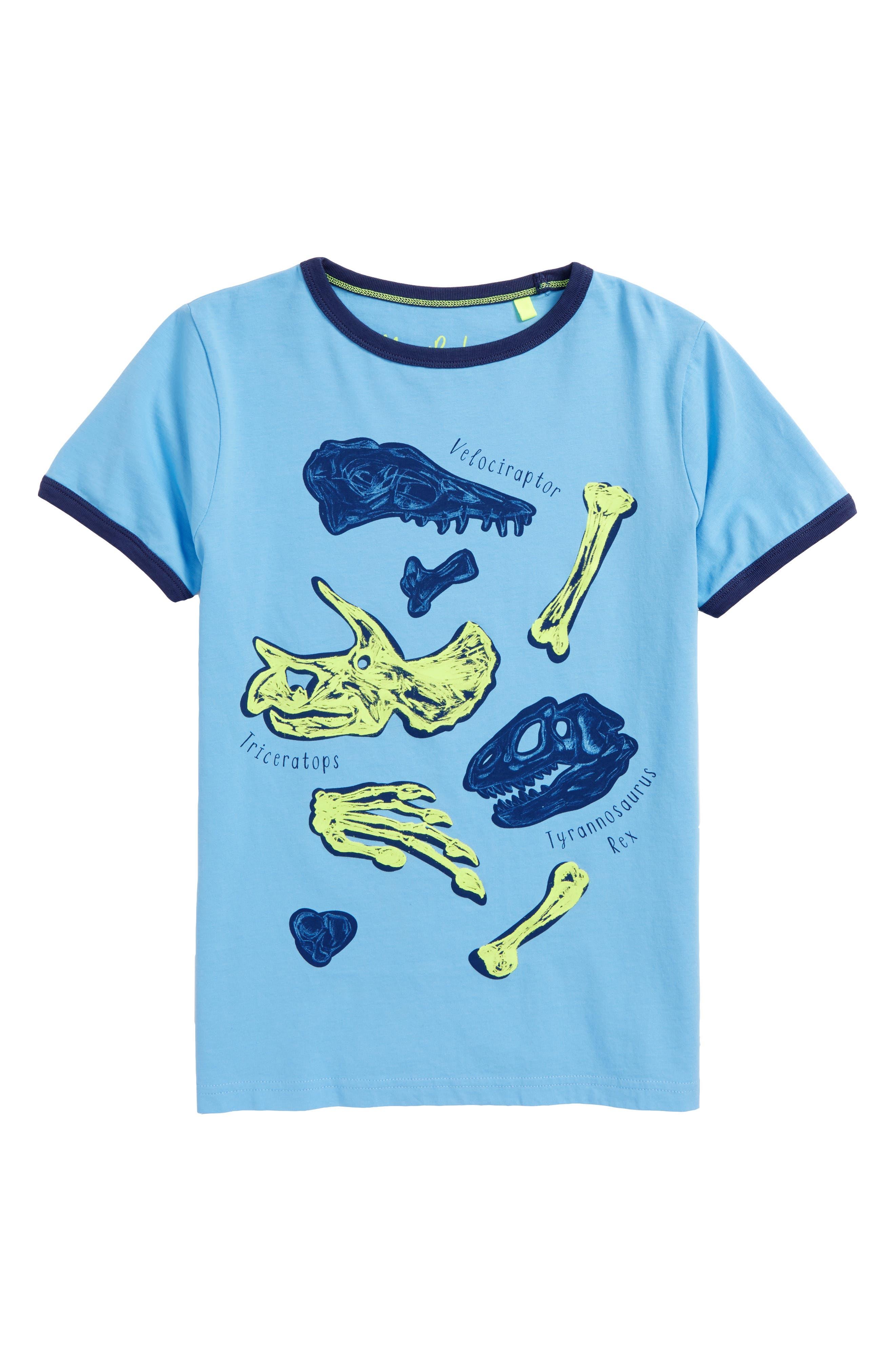 Educational Dinosaur T-Shirt,                             Main thumbnail 1, color,                             Surfboard Blue Dino