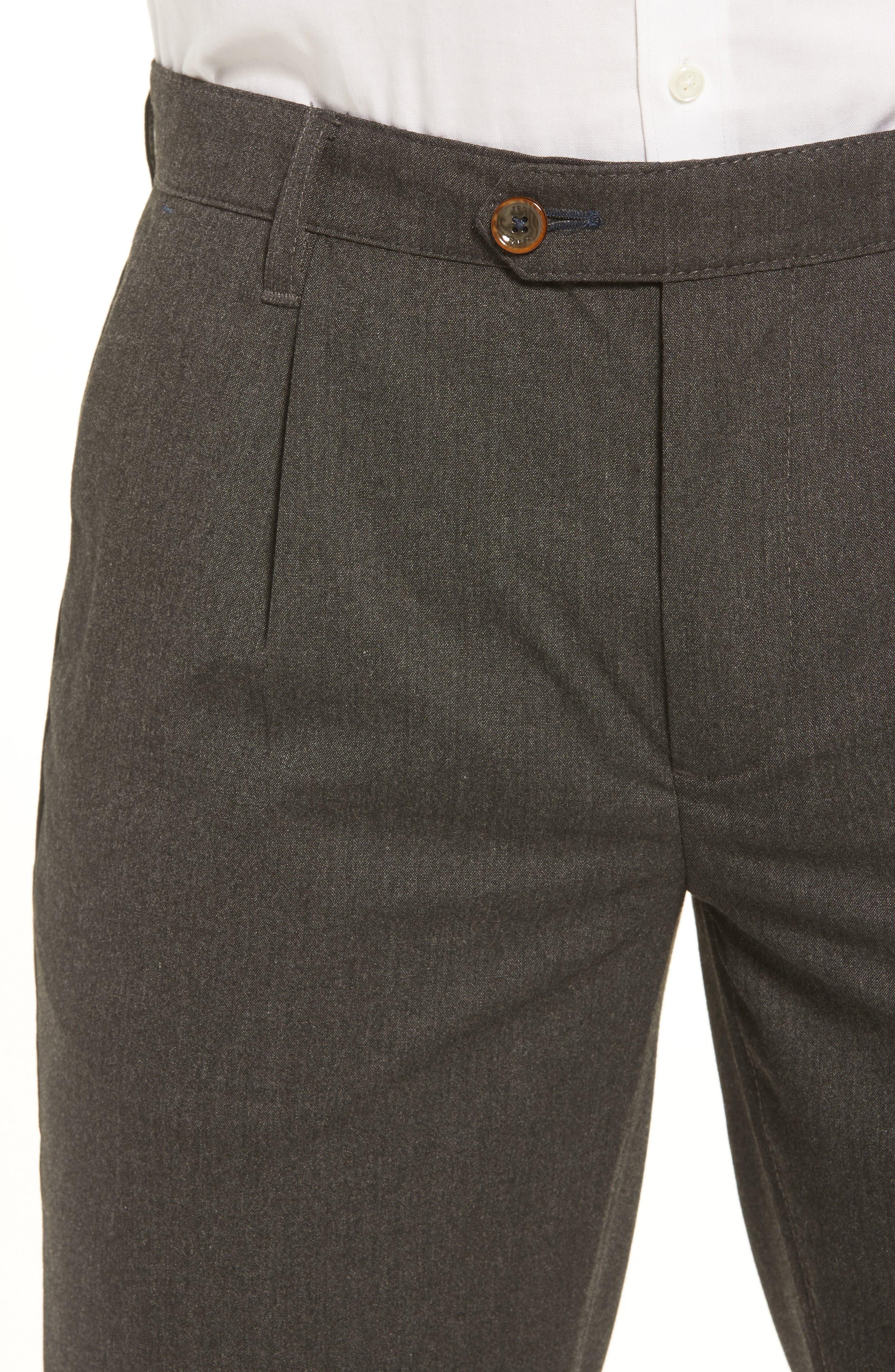 Champi Pleated Cropped Pants,                             Alternate thumbnail 4, color,                             Black