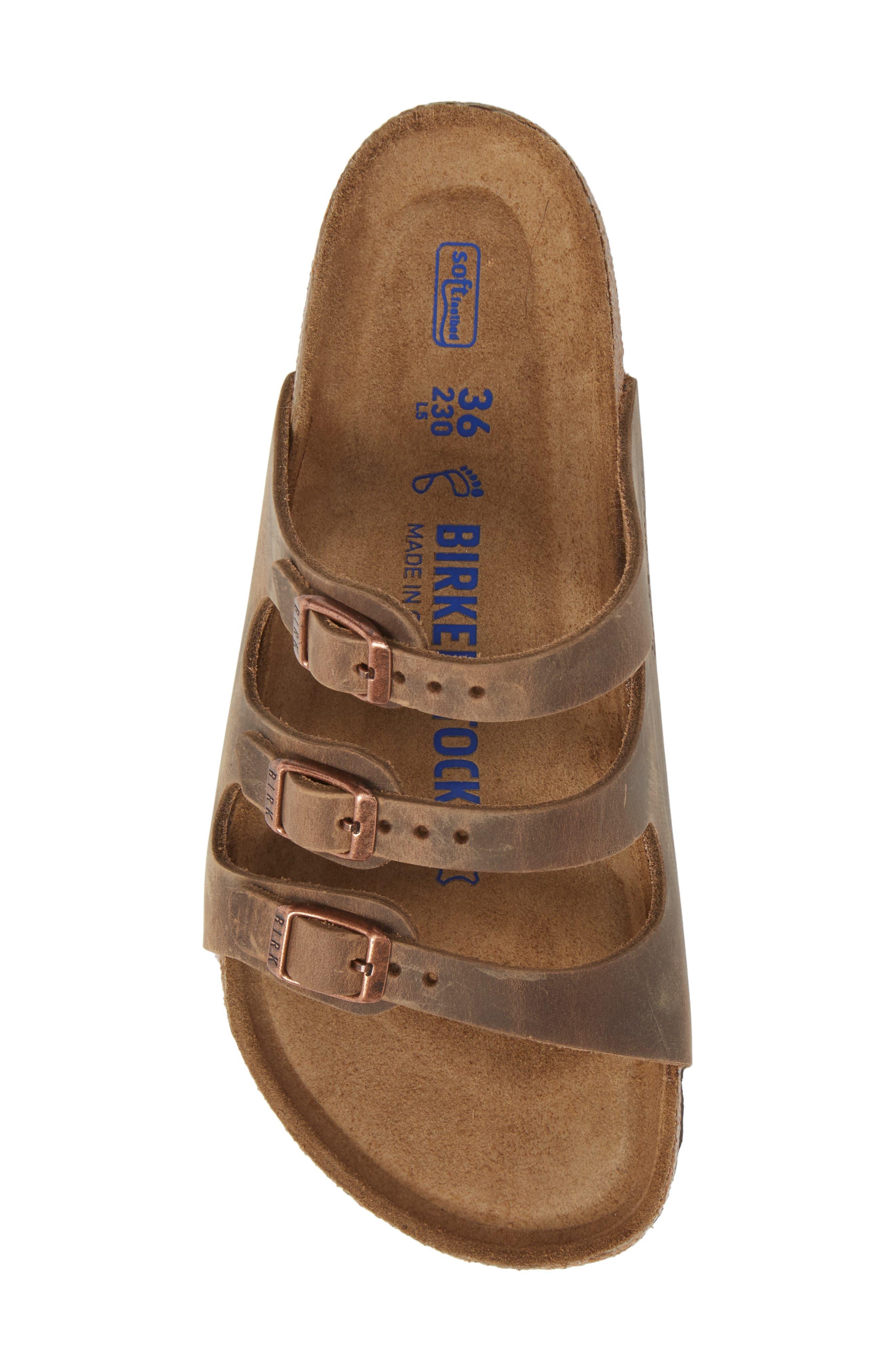 Florida Sandal,                             Alternate thumbnail 5, color,                             Tobacco Oiled Leather