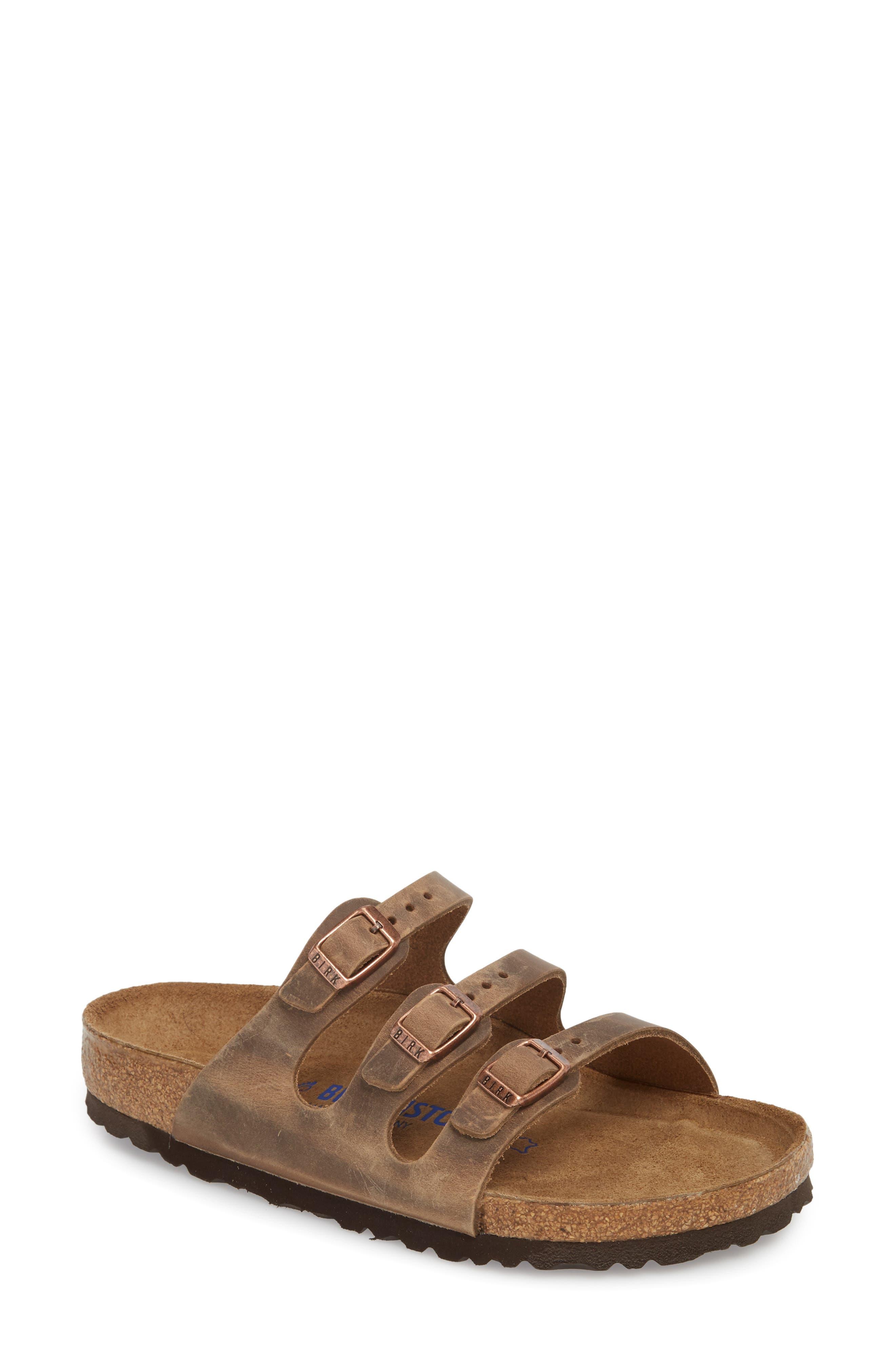 Florida Sandal,                             Main thumbnail 1, color,                             Tobacco Oiled Leather