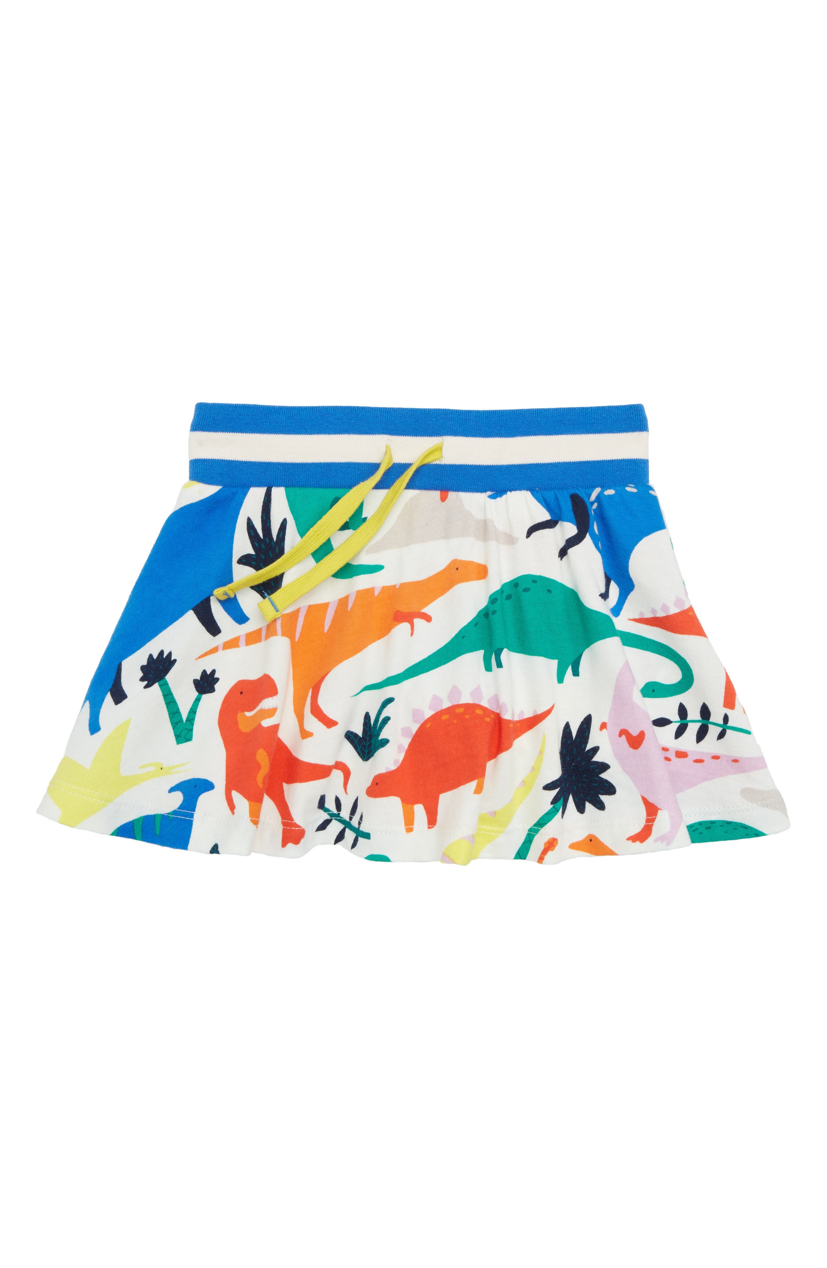 Dinosaur Jersey Skort,                         Main,                         color, Ivory Do-You-Think-She-Saurus