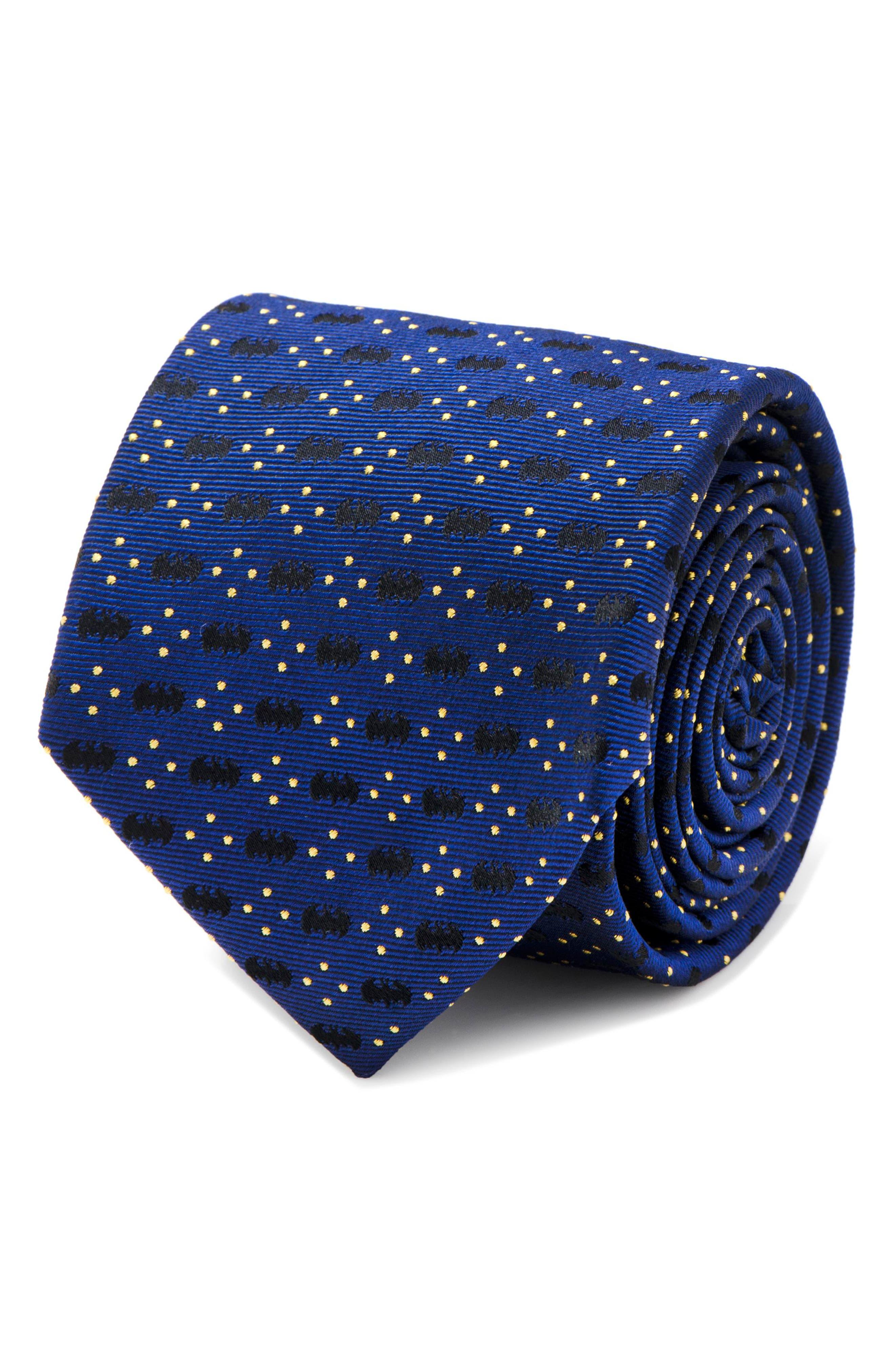 Batman Diamond Dot Silk Tie,                             Alternate thumbnail 2, color,                             Navy