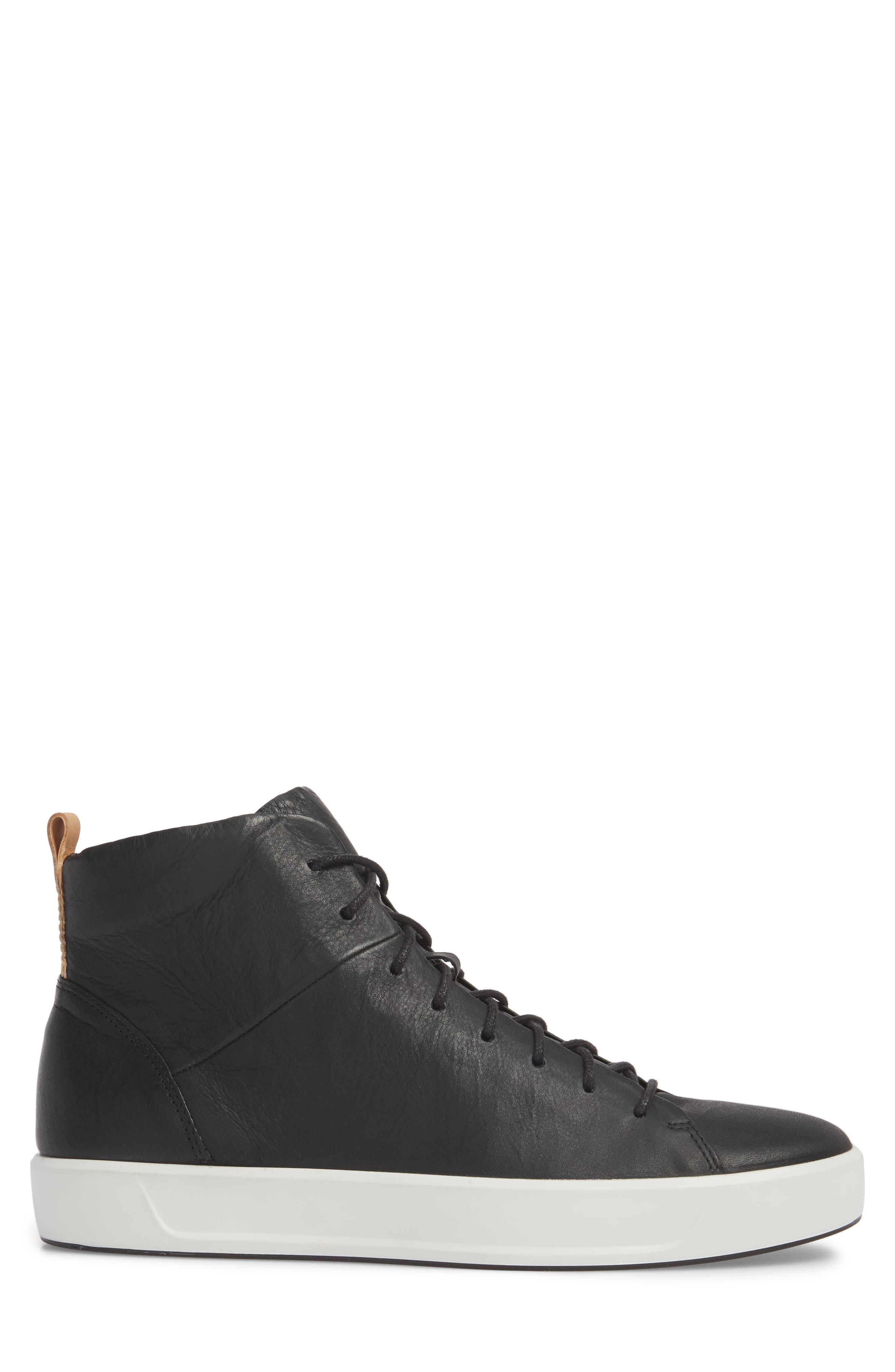Soft 8 Sneaker,                             Alternate thumbnail 3, color,                             Black/Black Leather